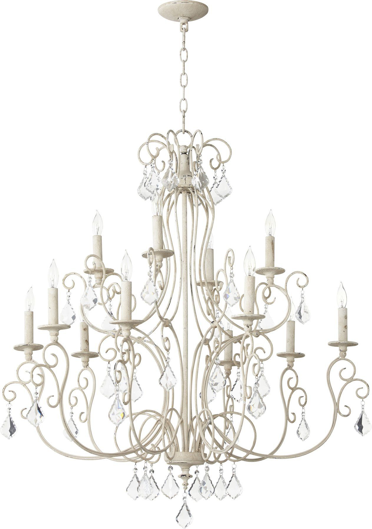 Ariel 12 Light Candle Style Chandelier (Gallery 13 of 20)