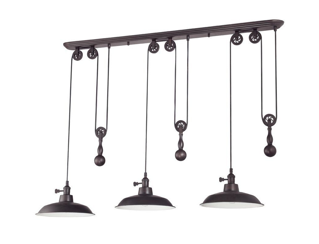 Ariel 3 Light Kitchen Island Dome Pendant (Gallery 5 of 20)