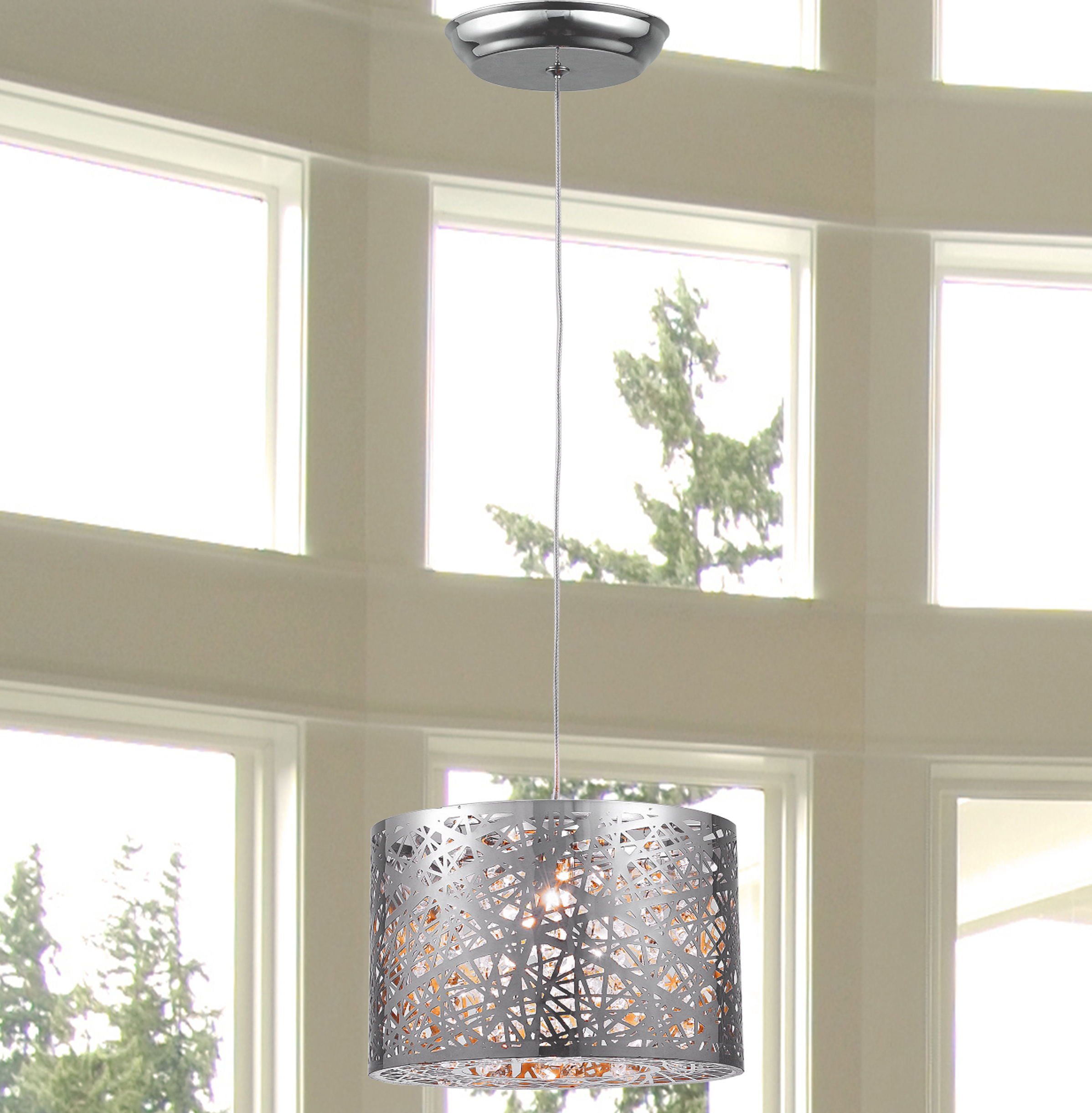 Arlie 1 Light Pendant For Widely Used Schutt 4 Light Kitchen Island Pendants (View 3 of 20)