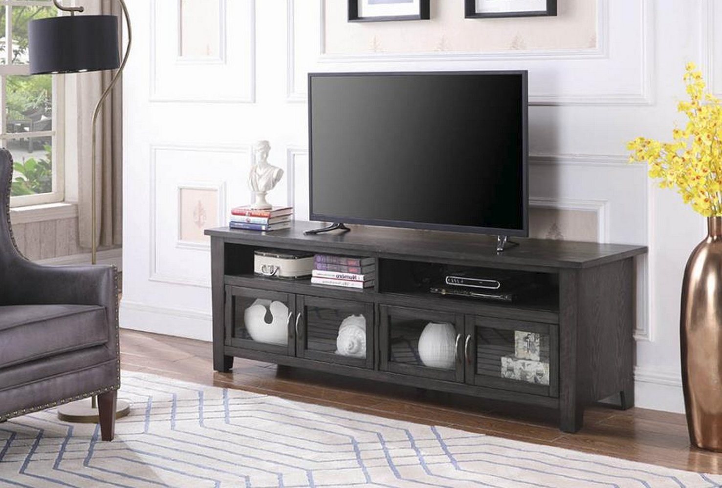 "Armenta Tv Stand For Tvs Up To 70"" With Well Known Ericka Tv Stands For Tvs Up To 42"" (Gallery 16 of 20)"