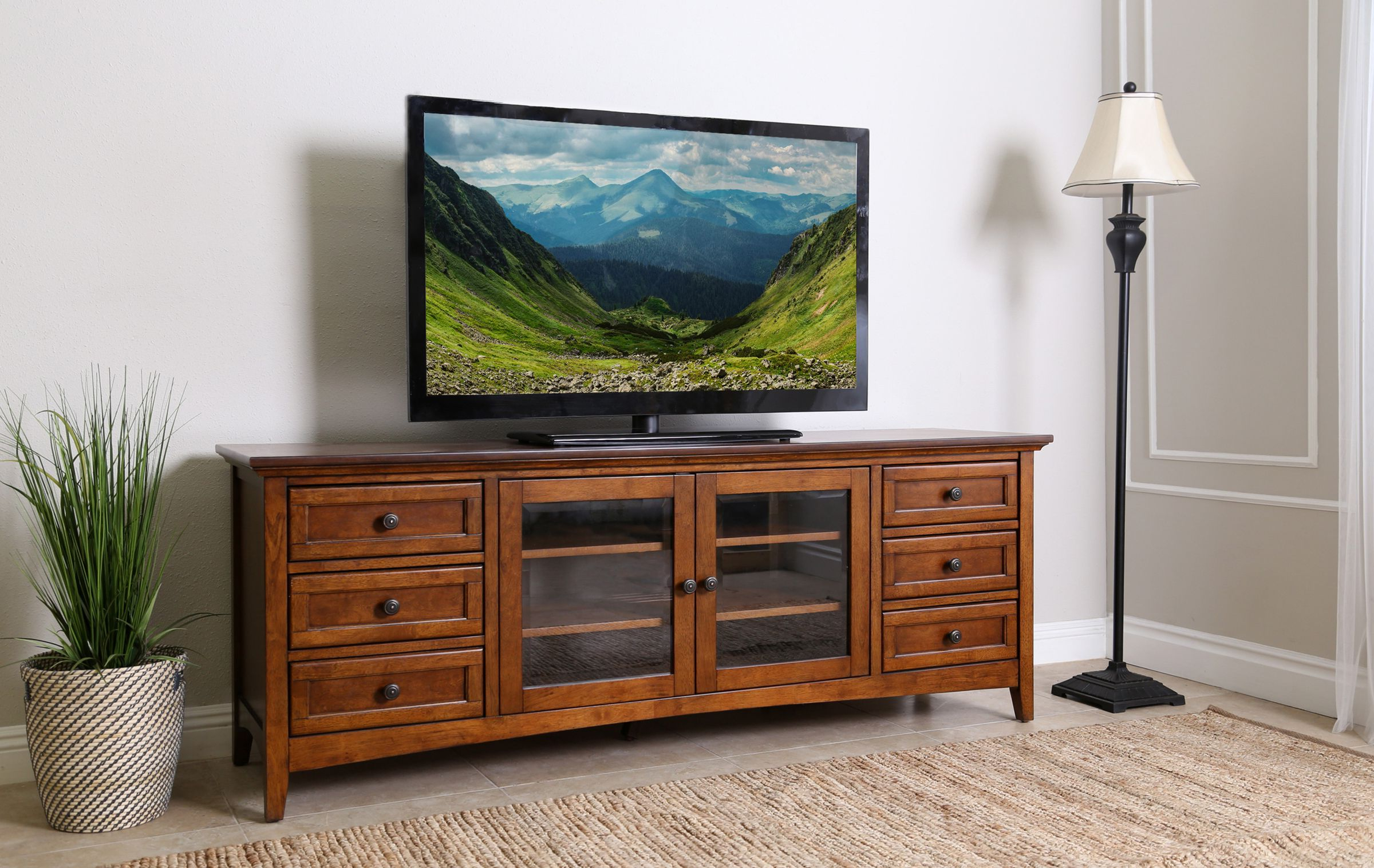 "Arminta Wood Sideboards With Regard To Current Taylor 72"" Media Console (View 6 of 20)"