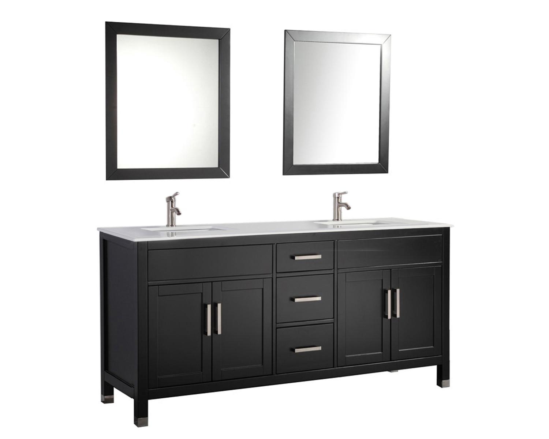 """Arminta Wood Sideboards Within Trendy Denault 84"""" Double Sink Bathroom Vanity Set (Gallery 19 of 20)"""