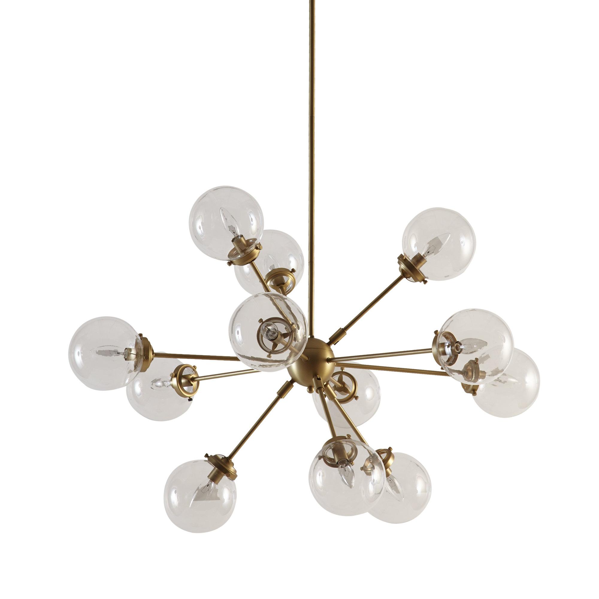 Asher 12 Light Sputnik Chandelier With Regard To Widely Used Bautista 6 Light Sputnik Chandeliers (View 1 of 20)