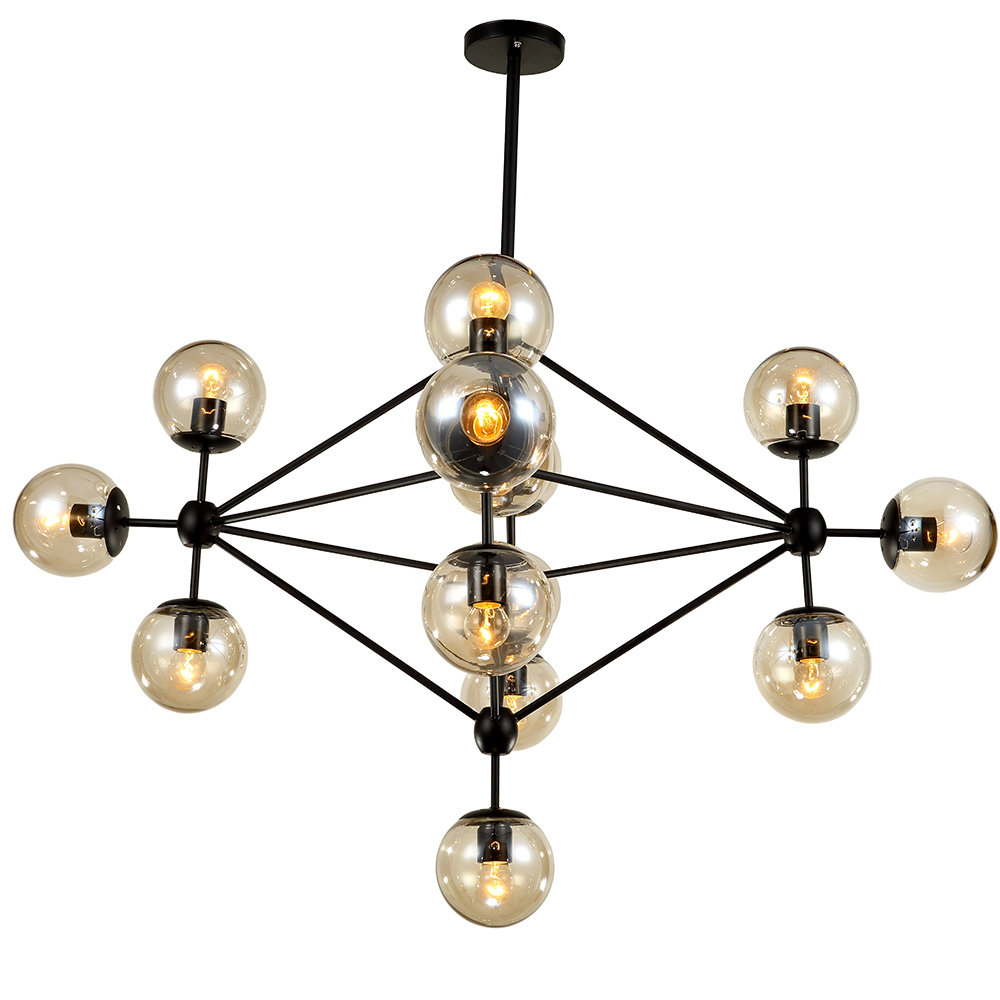 Asher 12 Light Sputnik Chandeliers Throughout Most Recently Released Dortch 15 Light Sputnik Chandelier (View 4 of 20)