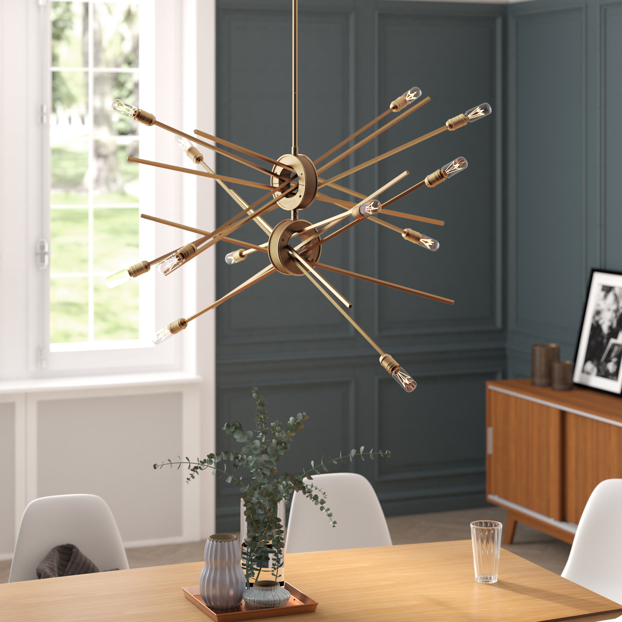 Asher 12 Light Sputnik Chandeliers With Most Current Mercury Row Graddy 12 Light Sputnik Chandelier (View 5 of 20)