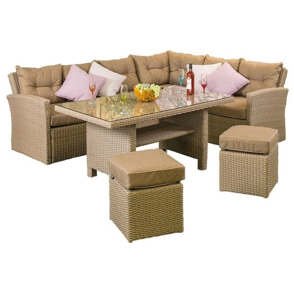 Ashton Rattan Corner Sofa Set Regarding 2020 Tess Corner Living Patio Sectionals With Cushions (Gallery 16 of 20)