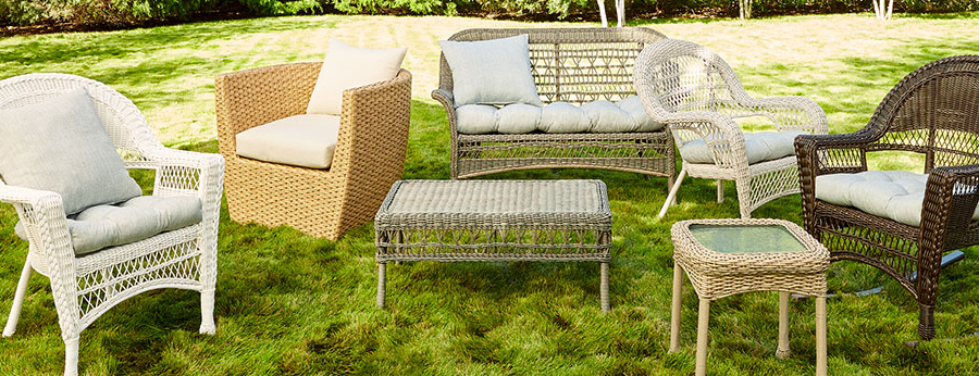 At Home In Newbury Patio Sofas With Cushions (Gallery 20 of 20)