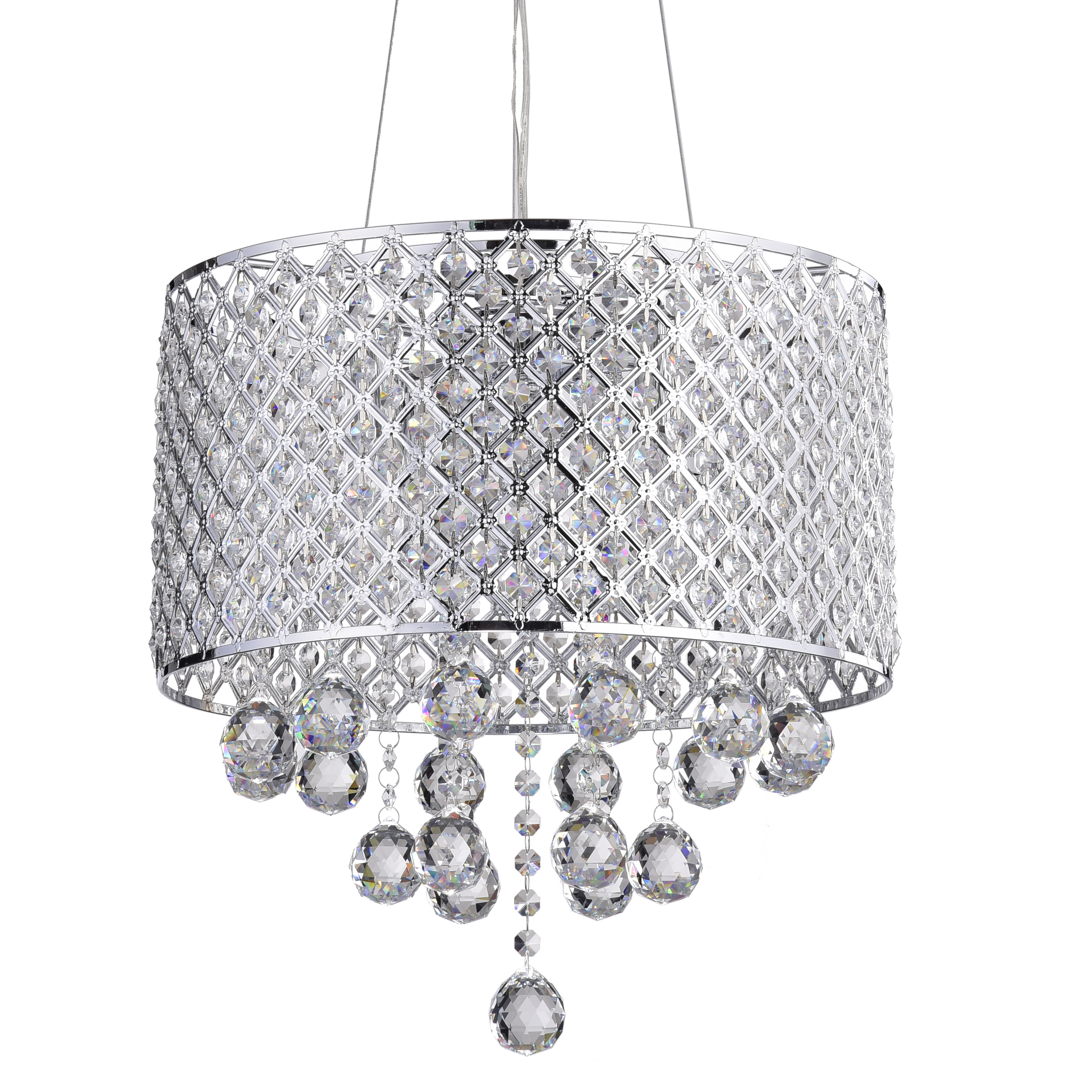 Aurore 4 Light Crystal Chandeliers Inside Recent Ginnia 4 Light Crystal Chandelier (Gallery 9 of 20)