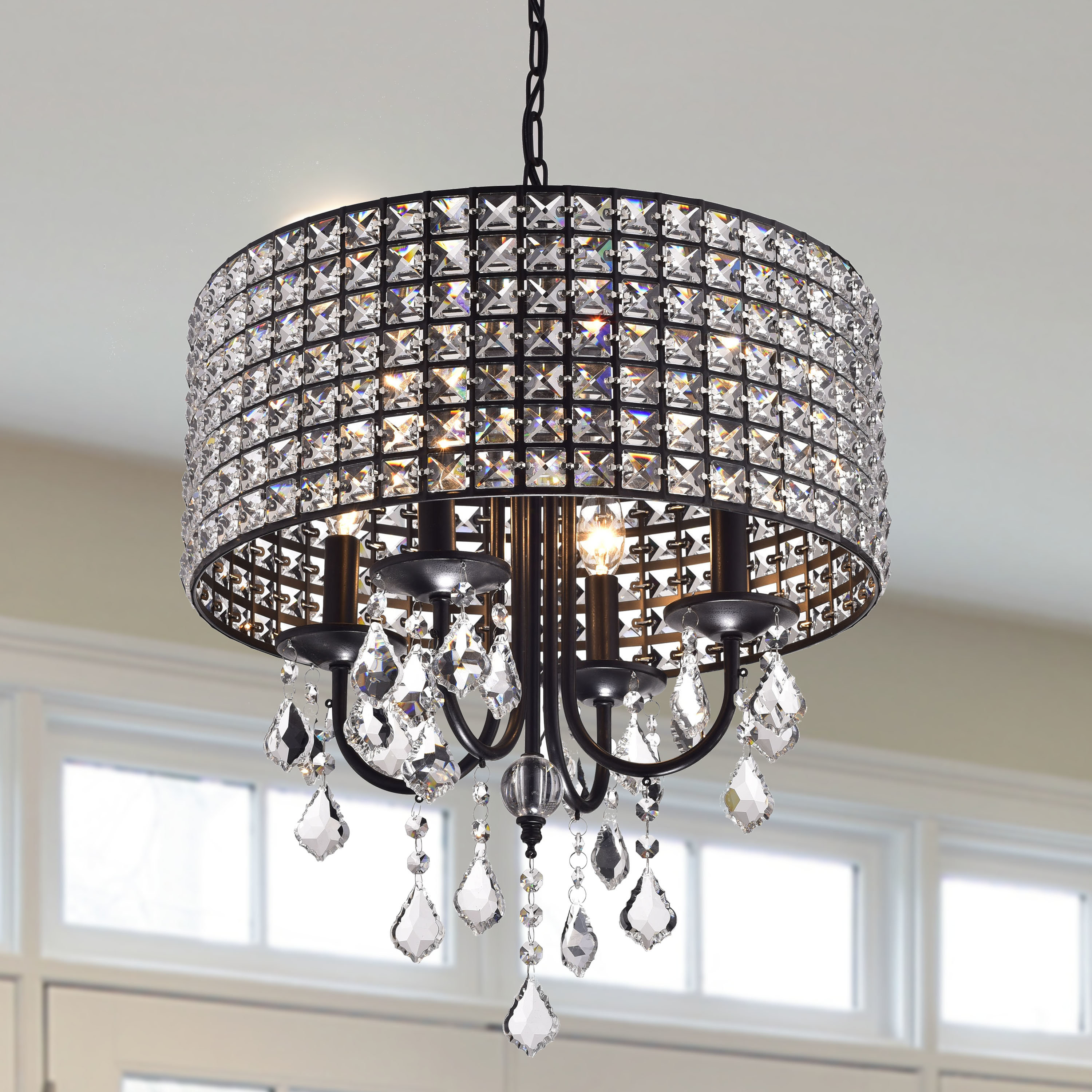Aurore 4 Light Crystal Chandeliers Intended For Most Recent Albano 4 Light Crystal Chandelier (Gallery 2 of 20)