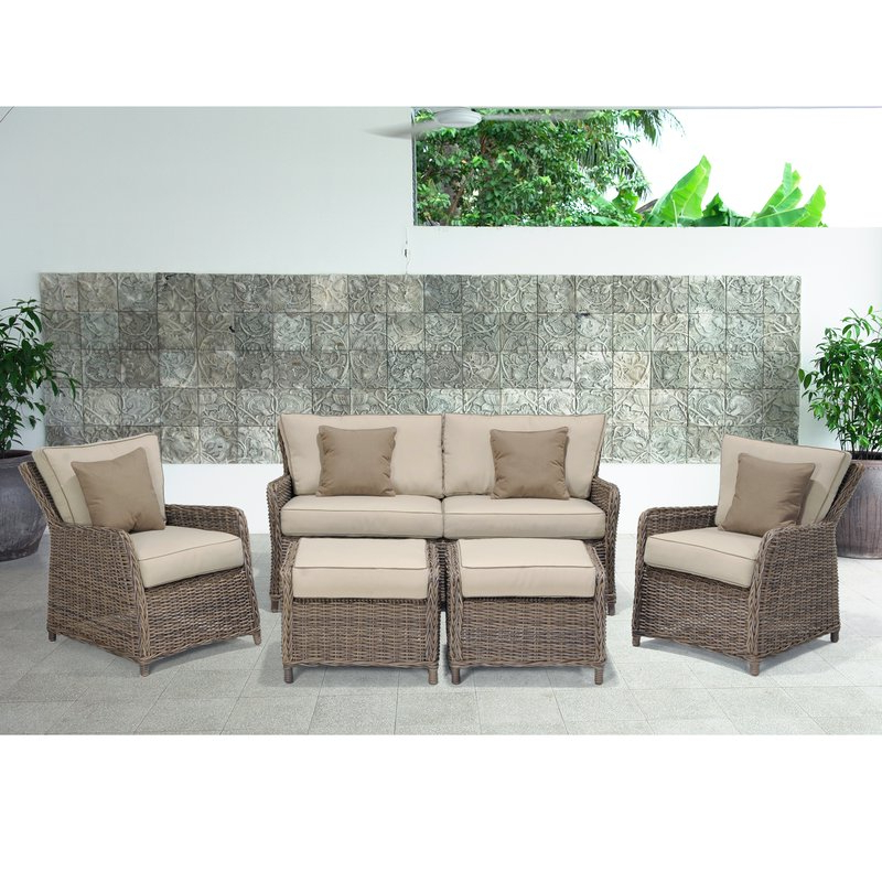 Avadi Outdoor Sofas & Ottomans 3 Piece Set Regarding Recent Avadi Outdoor 5 Piece Sofa Seating Group (View 5 of 20)