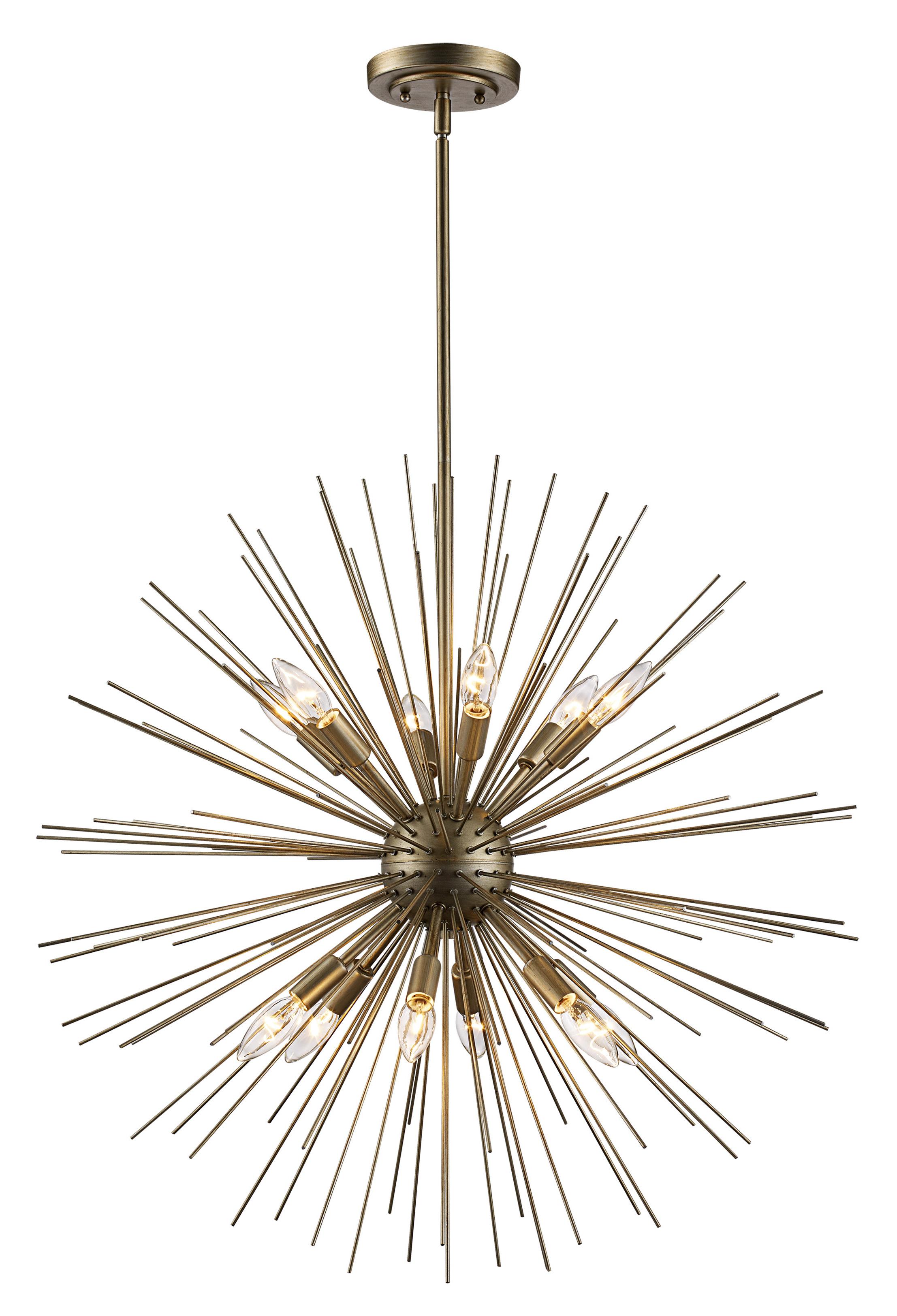 Bacchus 12 Light Sputnik Chandeliers Intended For Most Recent Trent Austin Design Antonie 12 Light Sputnik Chandelier (View 3 of 20)