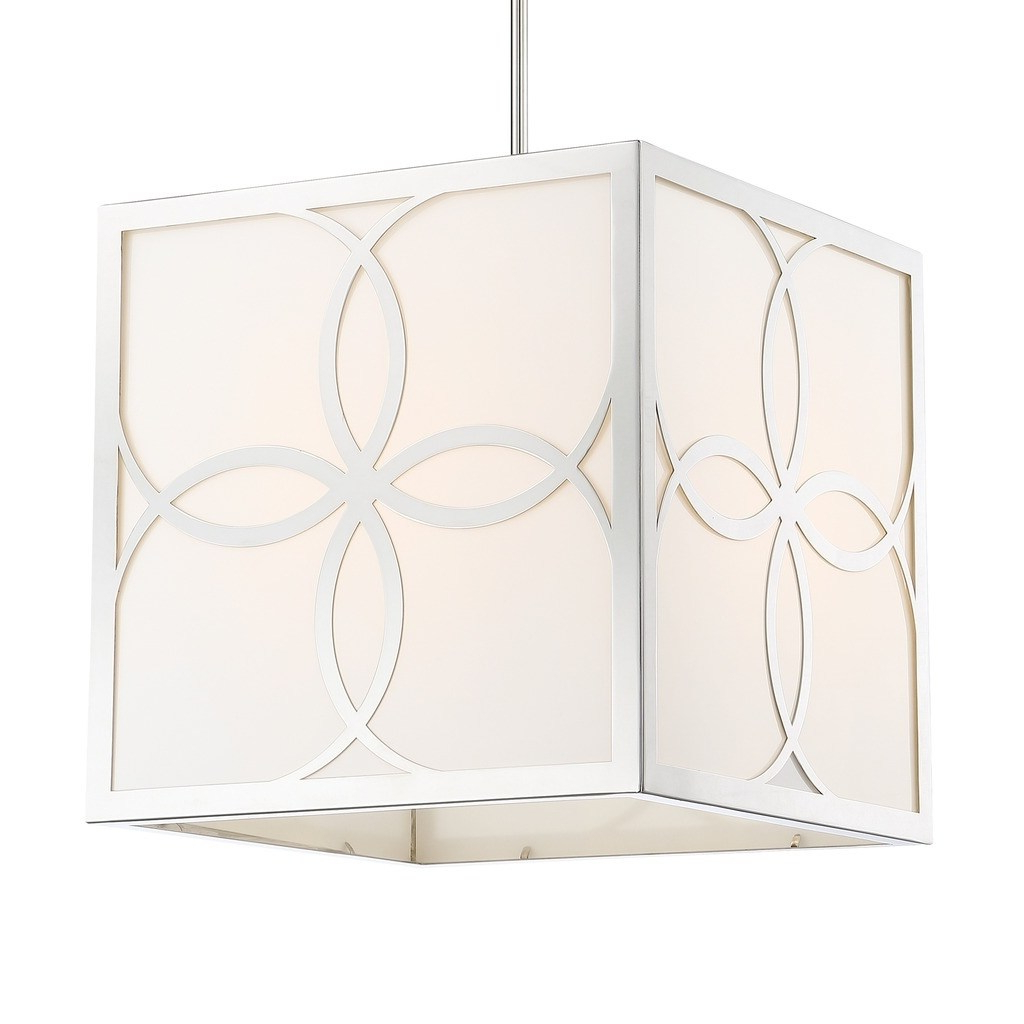 Balducci 5 Light Pendants Throughout Preferred Crystorama Anniversary 4 Light Polished Nickel Chandelier (View 5 of 20)
