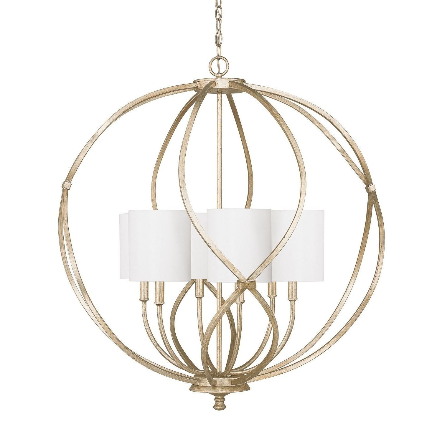 Balducci 5 Light Pendants Within Most Current Bailey 6 Light Winter Gold Pendant – Winter Gold In (View 7 of 20)