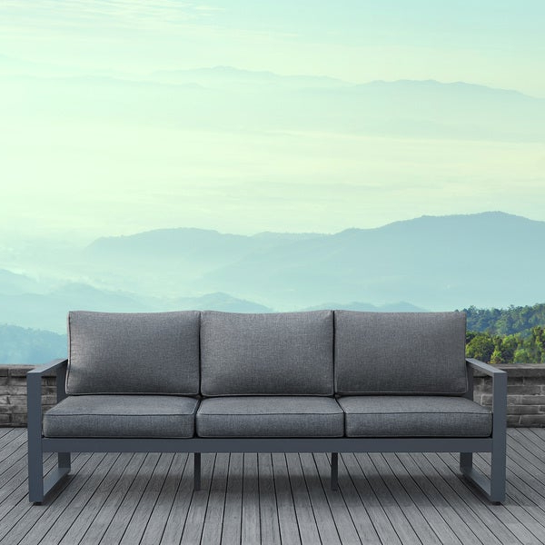 Baltic Patio Sofas With Cushions Throughout Most Recent Shop Real Flame Baltic Outdoor Sofa In Grey – Ships To (View 7 of 20)