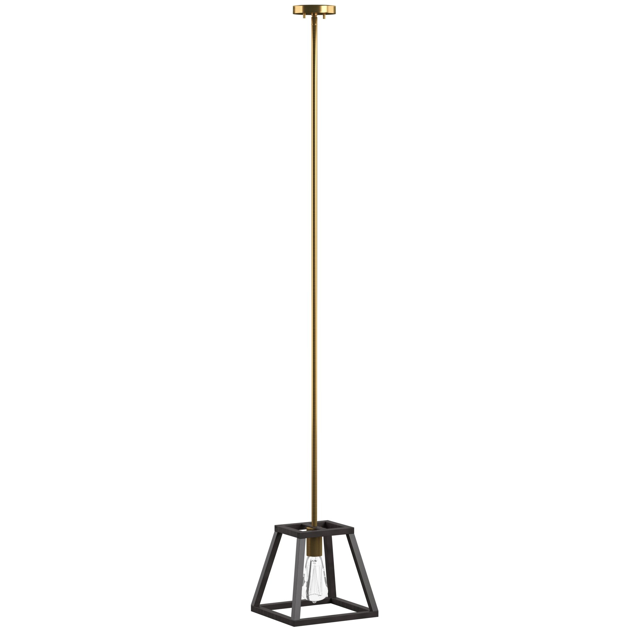 Barrons 1 Light Single Cylinder Pendants In Most Up To Date Shisler 1 Light Single Geometric Pendant (View 7 of 20)