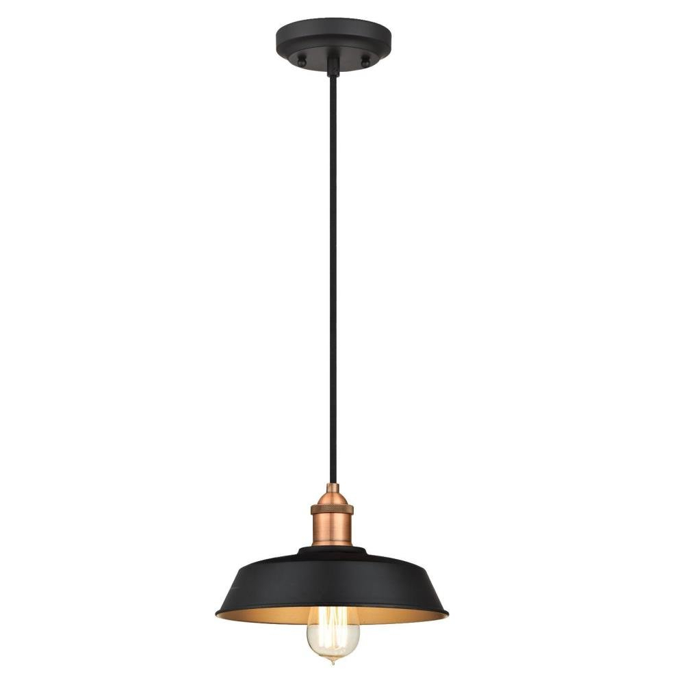 Baskin 1 Light Dome Pendant In Widely Used Cinchring 1 Light Cone Pendants (View 4 of 20)
