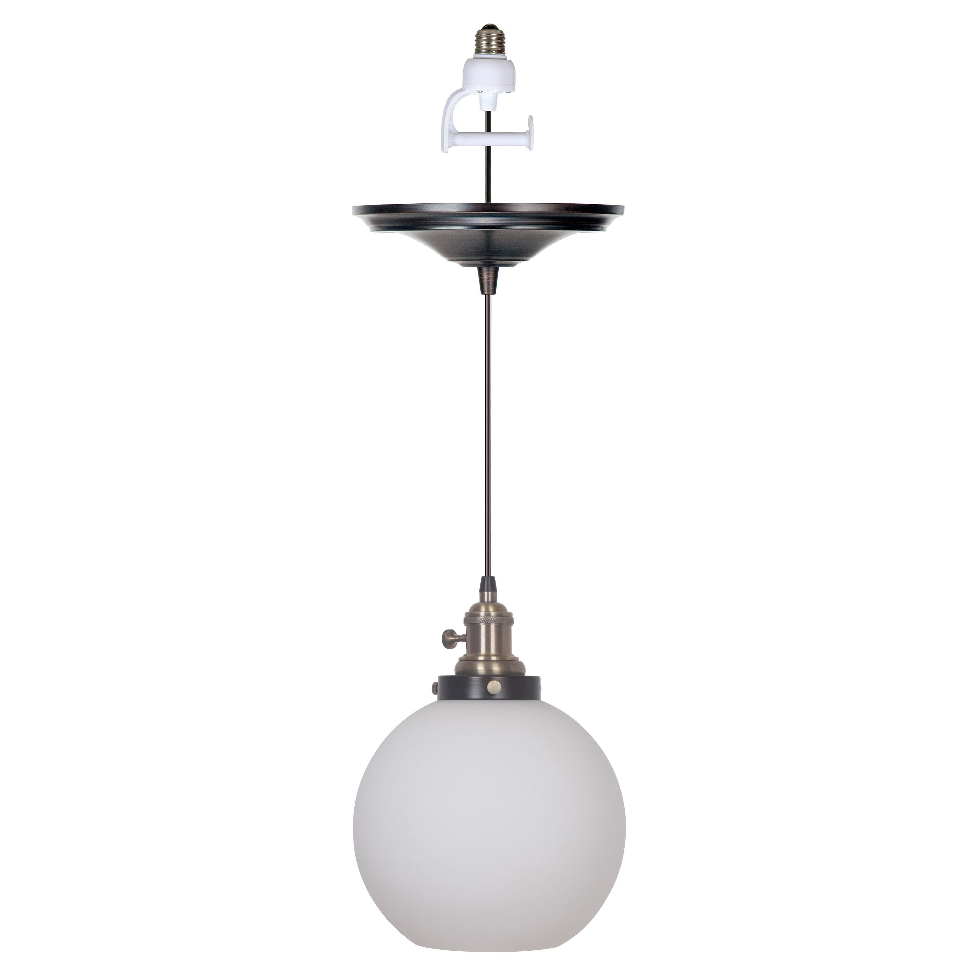 Bautista 1 Light Single Globe Pendants For Most Up To Date Worth Home Products Instant Screw In Pendant Light With (View 3 of 20)