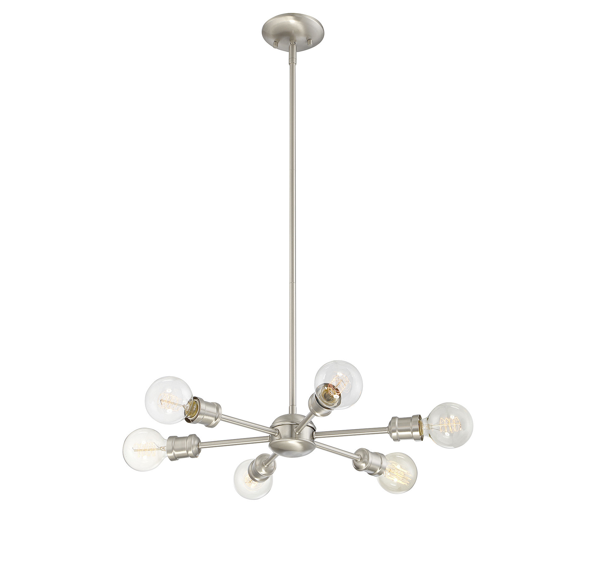 Bautista 6 Light Kitchen Island Bulb Pendants Throughout Widely Used Bautista 6 Light Sputnik Chandelier (View 5 of 20)
