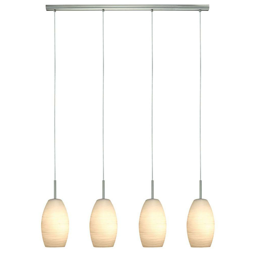 Bautista 6 Light Kitchen Island Bulb Pendants With Regard To Best And Newest Eglo Batista 4 Light Matte Nickel Hanging Light (View 20 of 20)