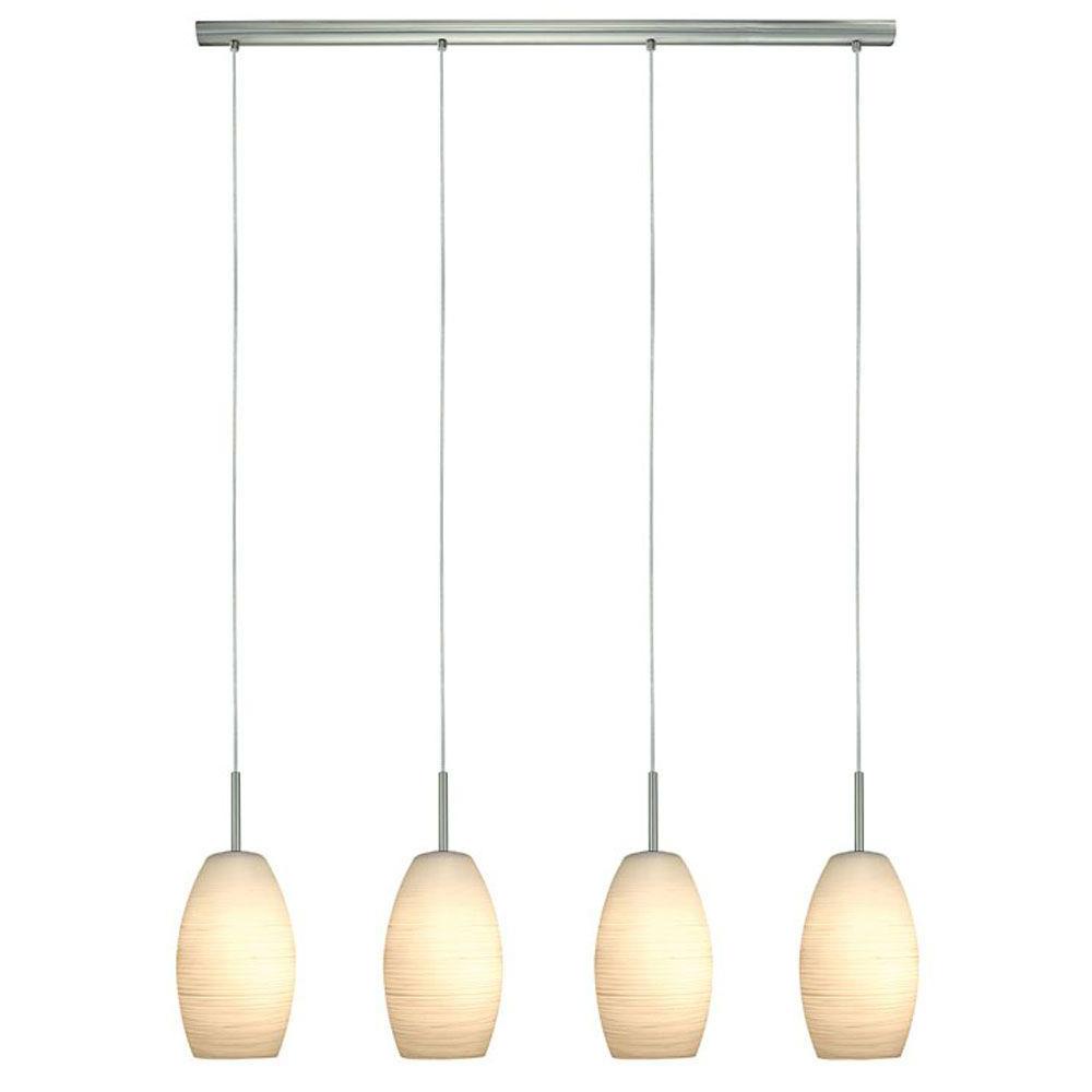 Bautista 6 Light Kitchen Island Bulb Pendants With Regard To Best And Newest Eglo Batista 4 Light Matte Nickel Hanging Light (View 6 of 20)