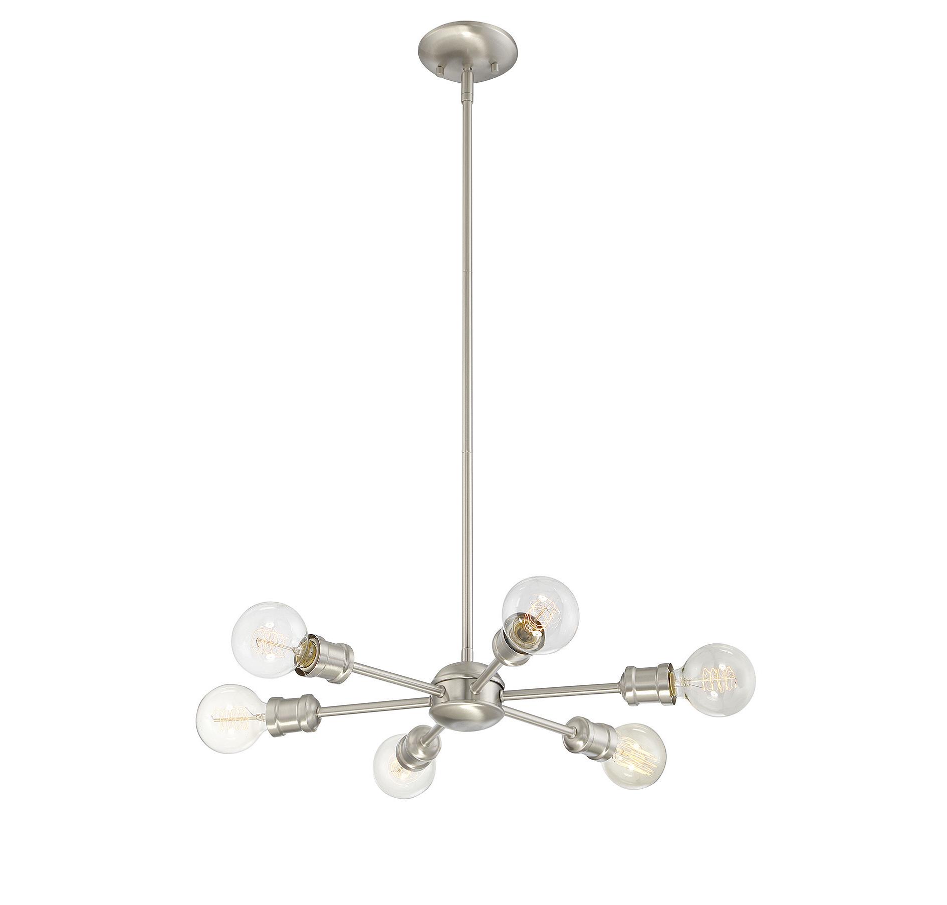Bautista 6 Light Sputnik Chandelier With Regard To Current Asher 12 Light Sputnik Chandeliers (Gallery 12 of 20)