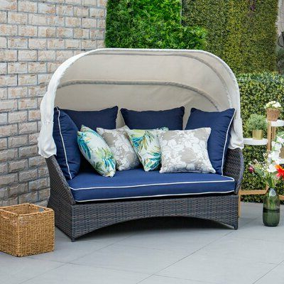 Bay Isle Home Tolbert Wicker Patio Daybed With Ottoman Regarding Most Recent Fansler Patio Daybeds With Cushions (Gallery 18 of 20)