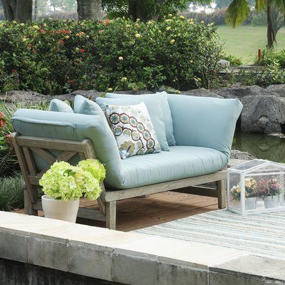 Beal Patio Daybeds With Cushions Pertaining To Most Up To Date Englewood Loveseat With Cushions (Gallery 12 of 20)