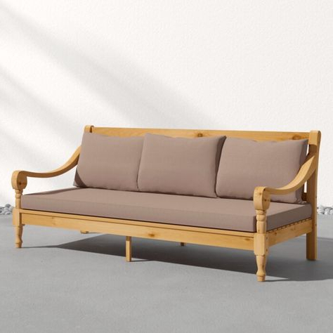 Beal Patio Daybeds With Cushions With Regard To Well Known Clary Teak Lounge Patio Daybed With Cushion (View 18 of 20)