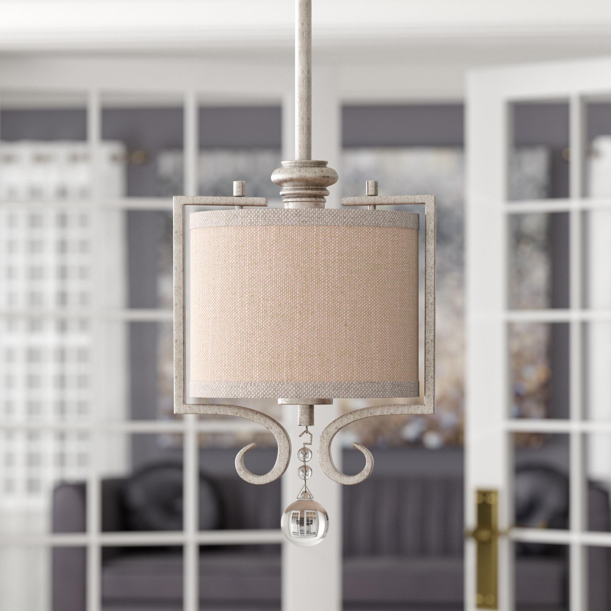 Beasley 1 Light Drum Pendant With Fashionable Kraker 1 Light Single Cylinder Pendants (Gallery 7 of 20)