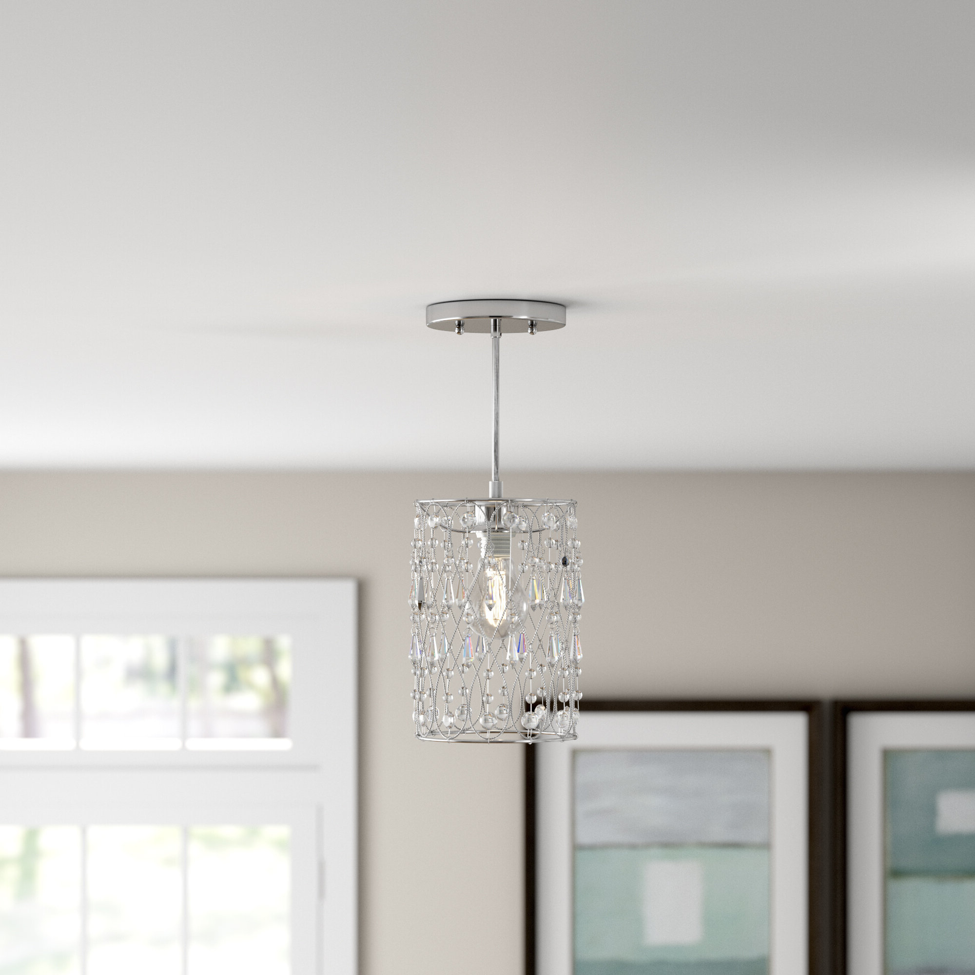 Beesley 1 Light Crystal Pendant In 2019 Dilley 1 Light Unique / Statement Geometric Pendants (View 2 of 20)