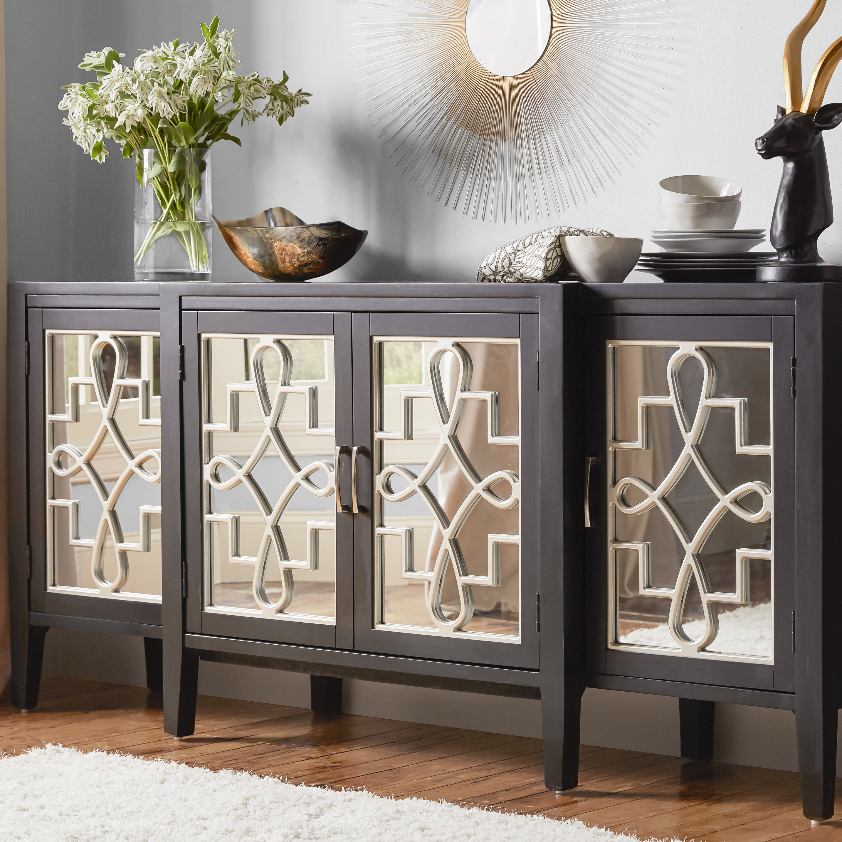 Beesley Buffet Table Intended For Well Known Serafino Media Credenzas (View 2 of 20)