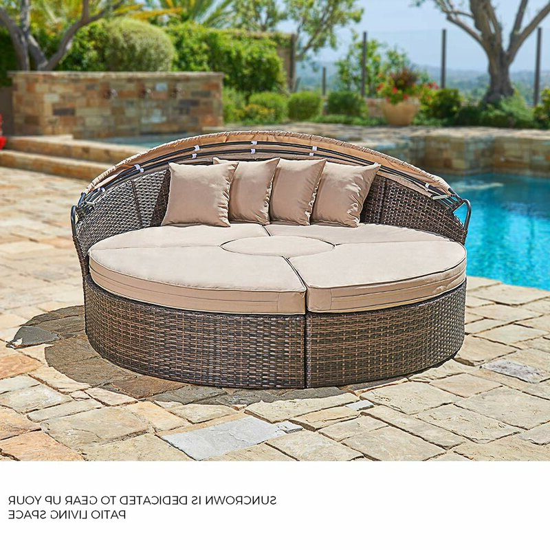 Behling Canopy Patio Daybeds With Cushions Throughout Best And Newest Behling Canopy Patio Daybed With Cushions (Gallery 1 of 20)