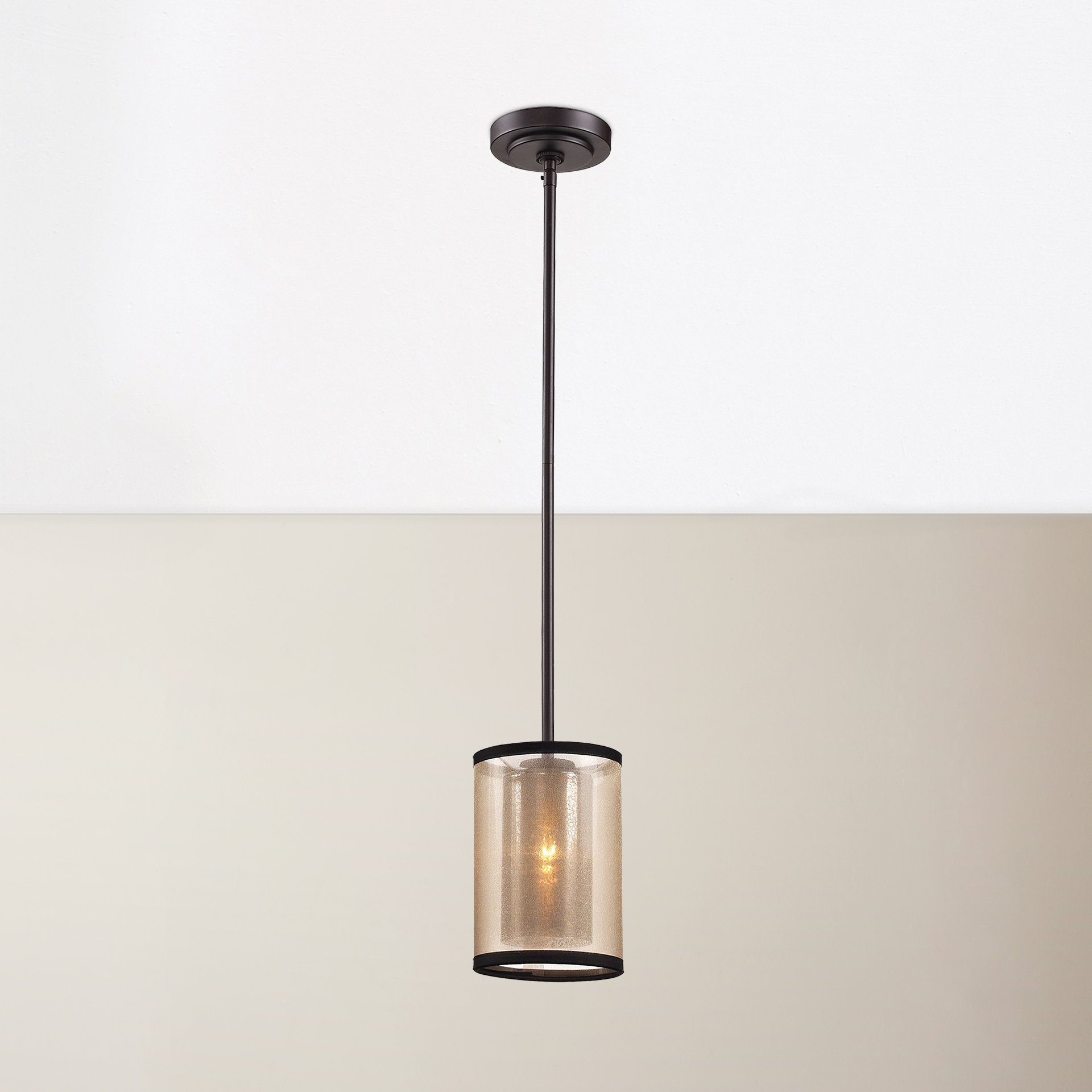 Bellamira 1 Light Drum Pendants Within Famous Dailey 1 Light Single Cylinder Pendant (View 9 of 20)