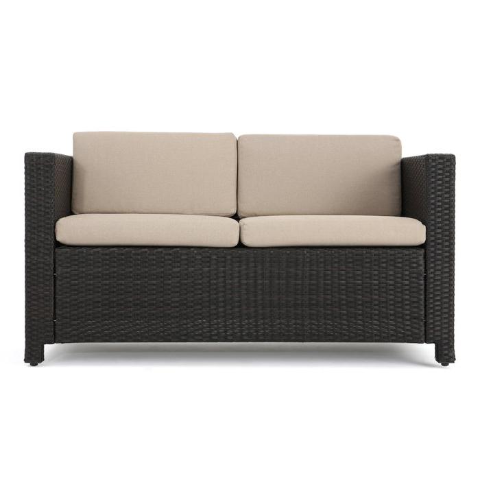 Belton Loveseats With Cushions For Current Furst Outdoor Loveseat With Cushions (View 2 of 20)