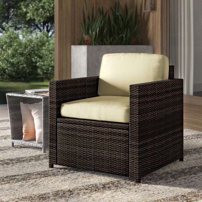 Belton Patio Sofas With Cushions In Trendy Belton Outdoor Wicker Deep Seating Patio Chair With Cushion (View 5 of 20)
