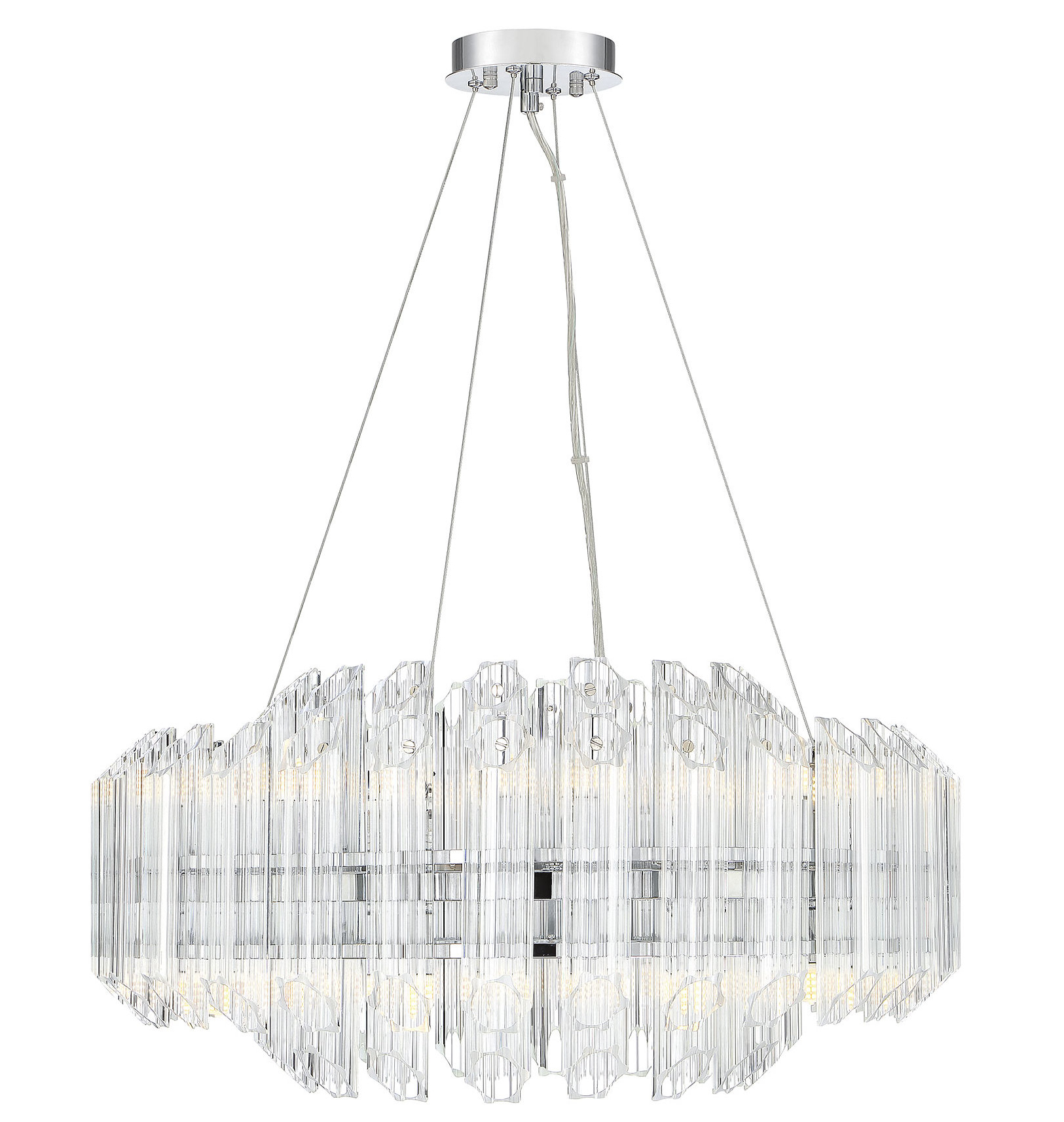 Benedetto 5 Light Crystal Chandeliers Inside Most Current Seymour 16 Light Crystal Chandelier (View 17 of 20)