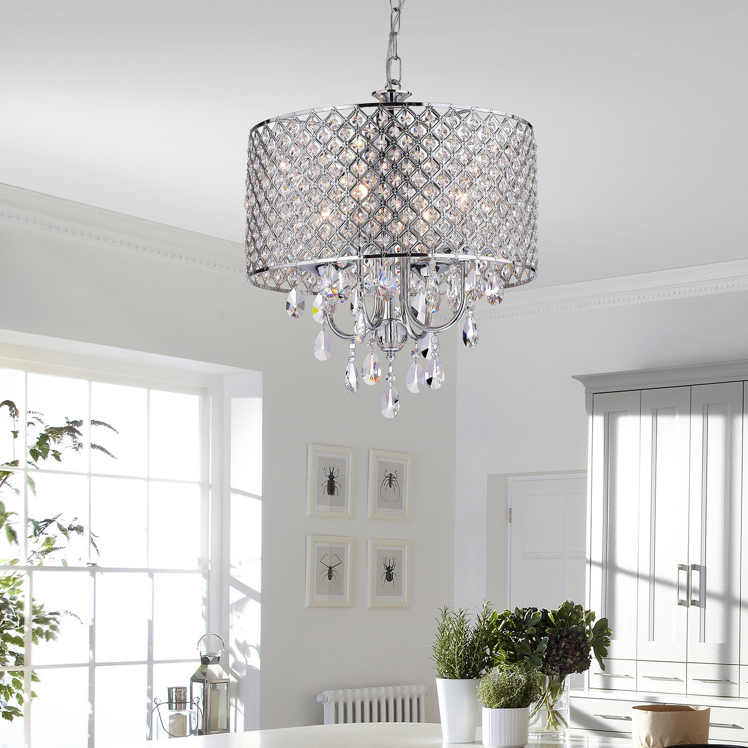 Benedetto 5 Light Crystal Chandeliers Within Most Recently Released Von 4 Light Crystal Chandelier (View 10 of 20)