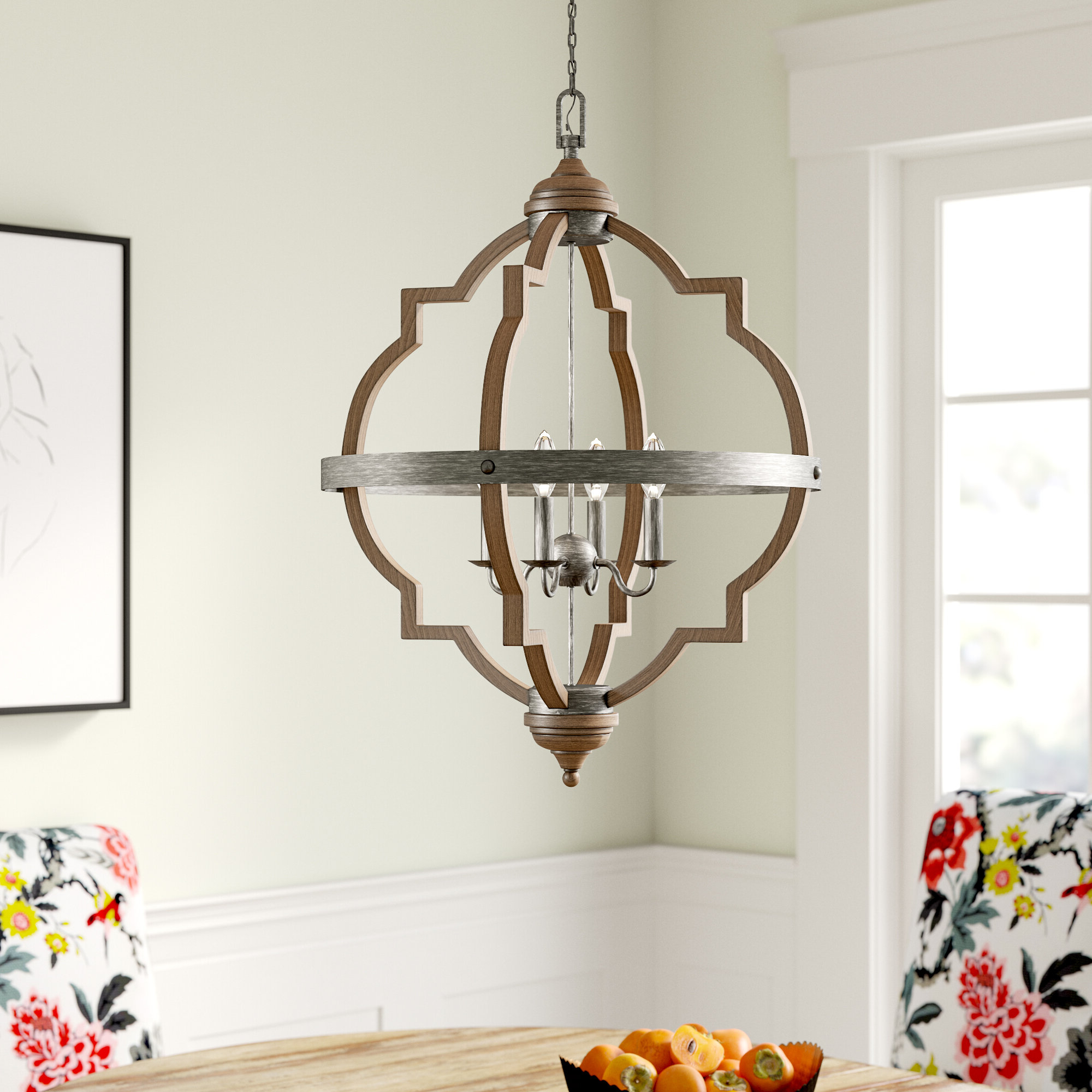 Bennington 4 Light Candle Style Chandelier Within Popular Dailey 4 Light Drum Chandeliers (View 8 of 20)