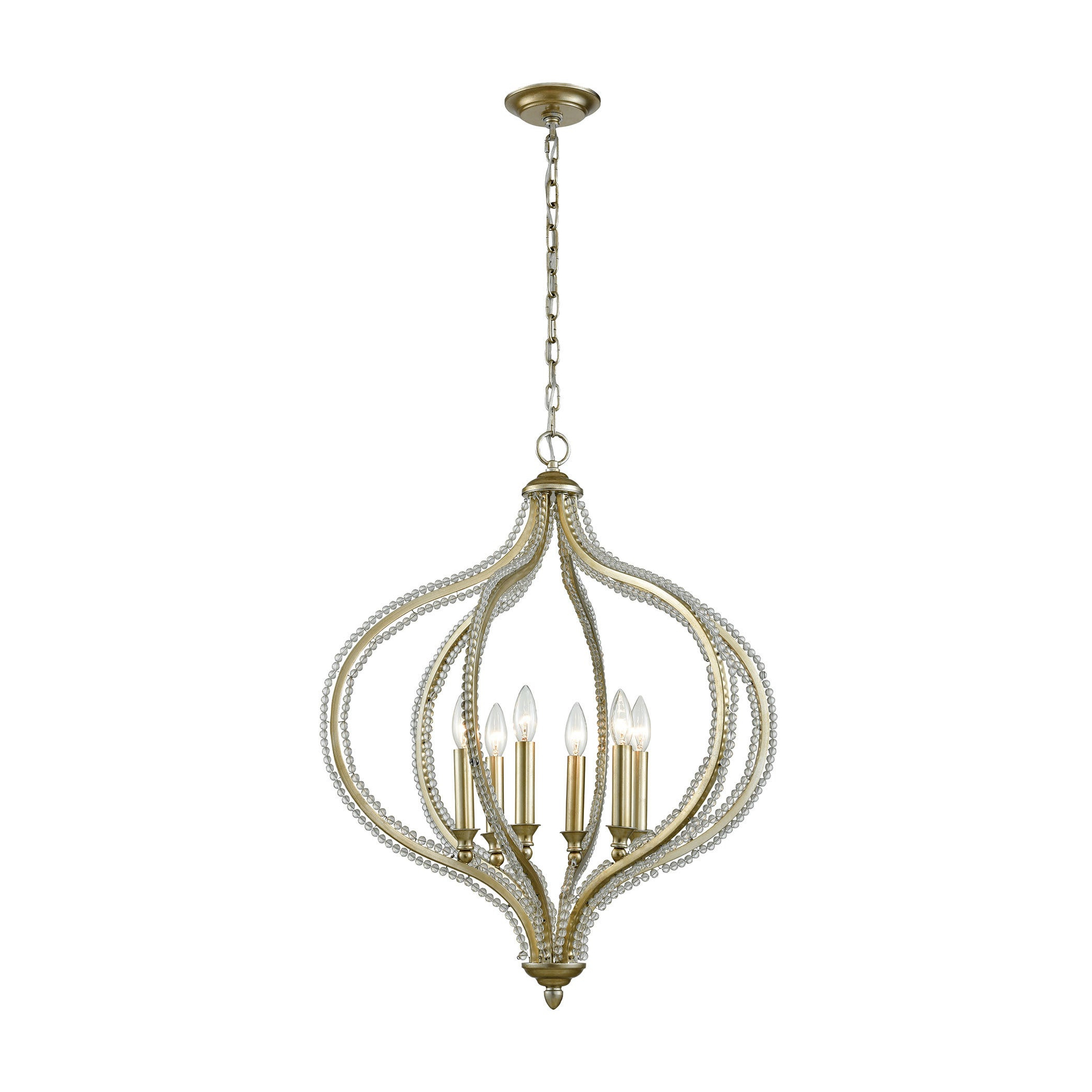Bennington 4 Light Candle Style Chandeliers For Recent Bennington 6 Light Pendant, Aged Silver (Gallery 20 of 20)