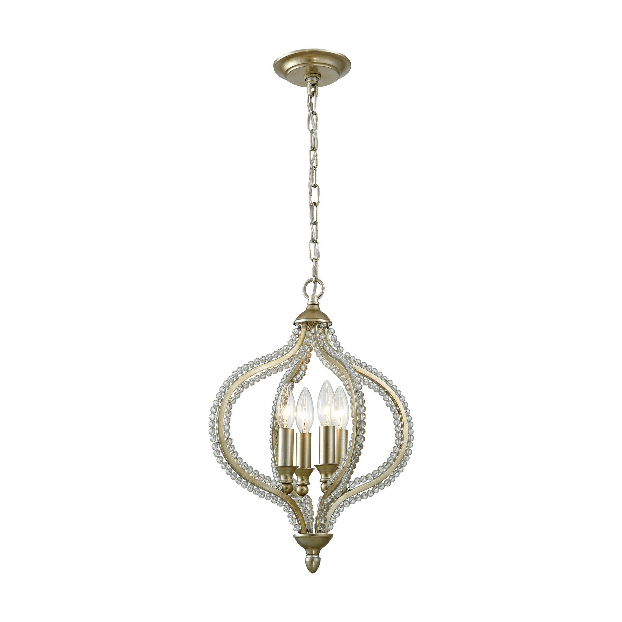 Bennington 4 Light Candle Style Chandeliers In Well Known Bennington 4 Light Pendant, Aged Silver (View 11 of 20)