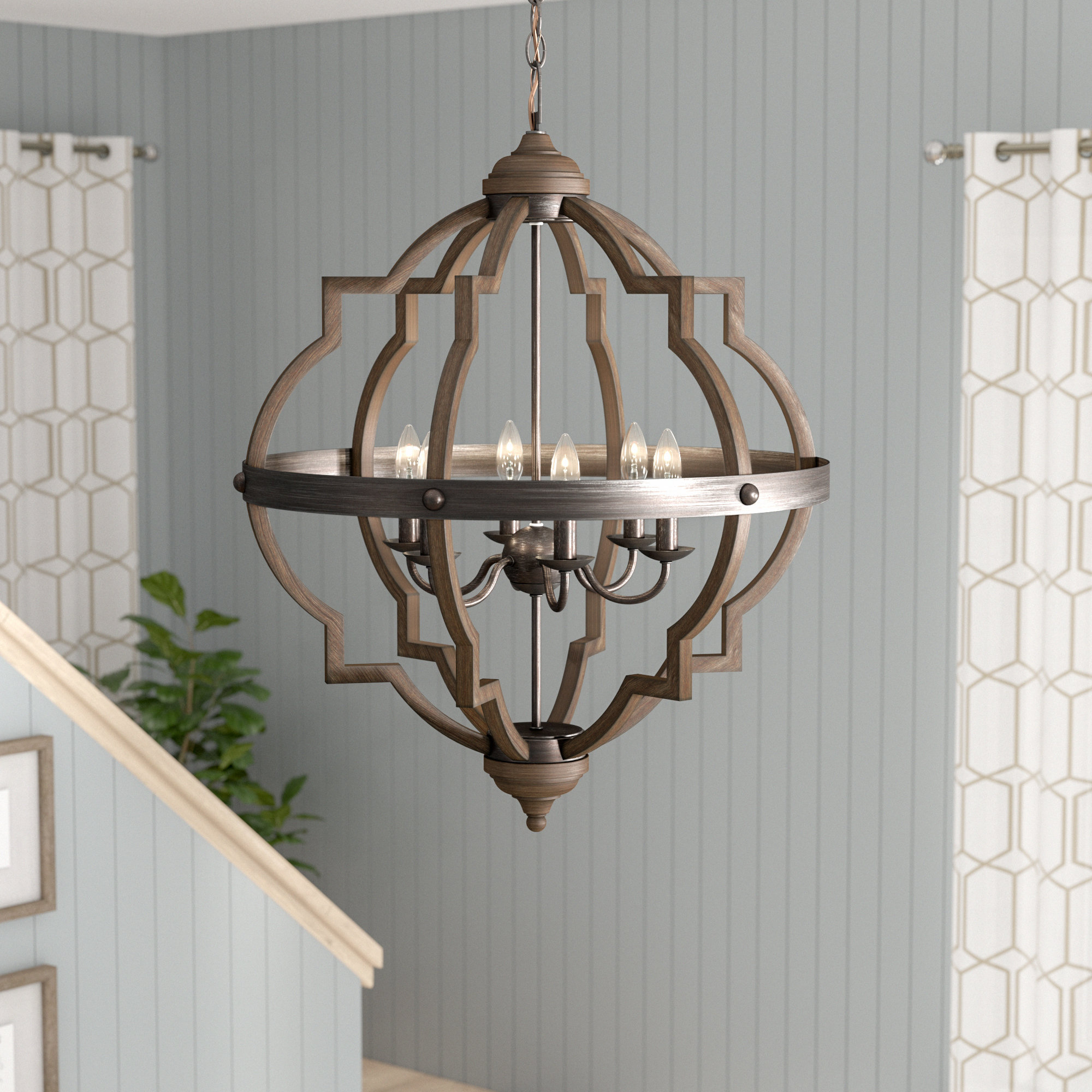 Bennington 6 Light Candle Style Chandelier For Preferred Bennington 4 Light Candle Style Chandeliers (View 5 of 20)
