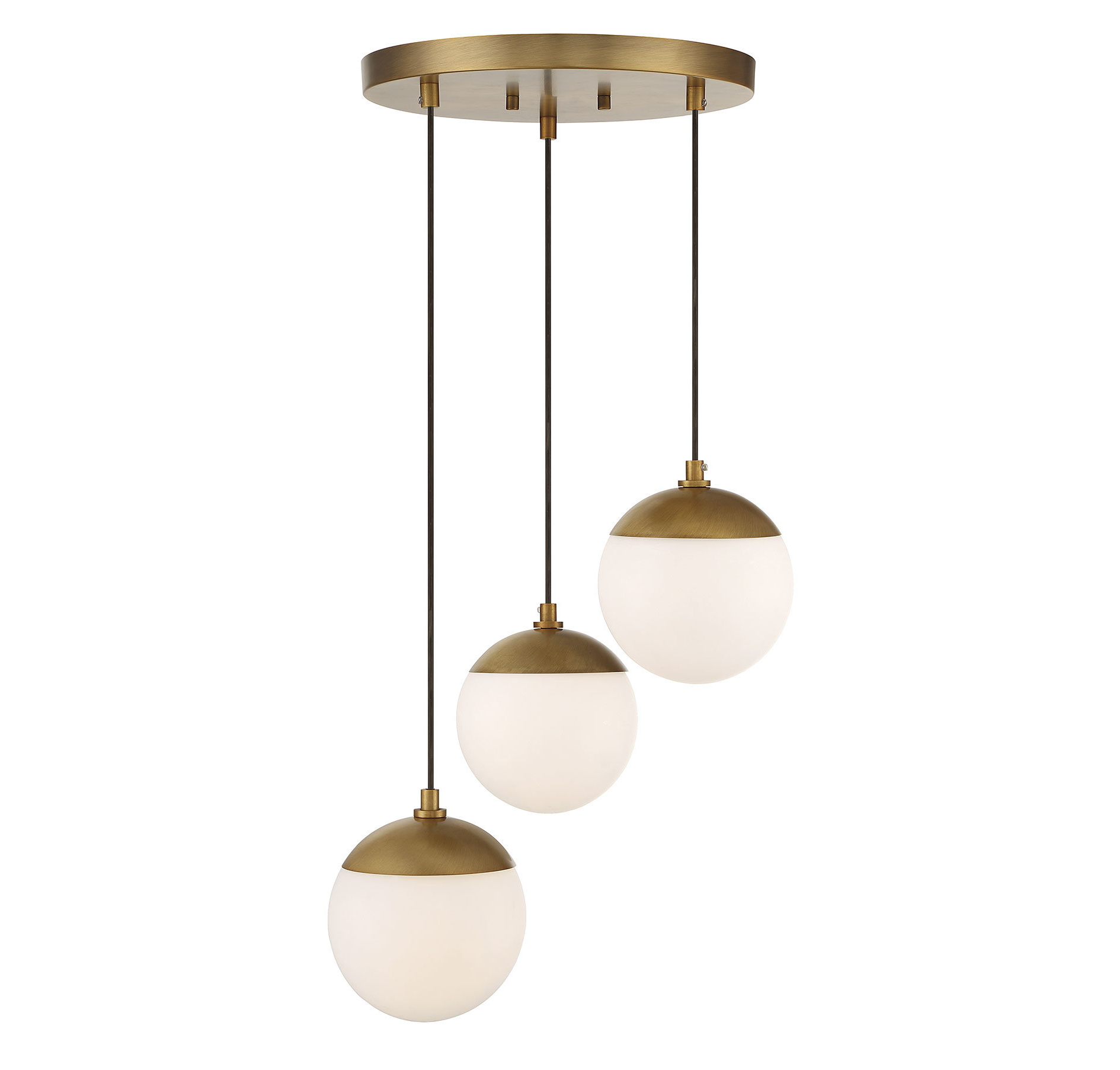 Berenice 3 Light Cluster Teardrop Pendants Within Most Recently Released Kara 3 Light Cluster Globe Pendant (View 8 of 20)