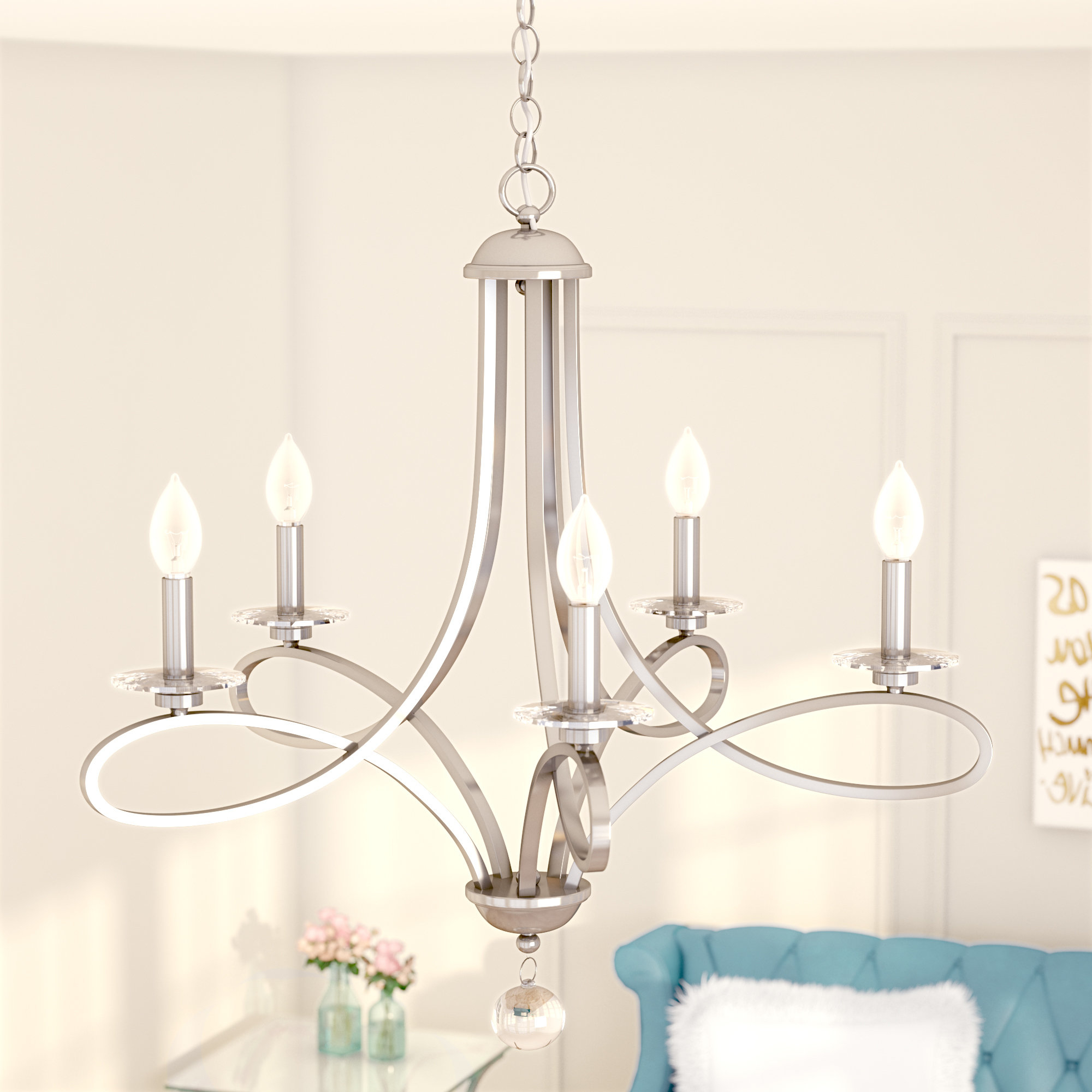 Berger 5 Light Candle Style Chandeliers For Most Up To Date Berger 5 Light Candle Style Chandelier (View 3 of 20)