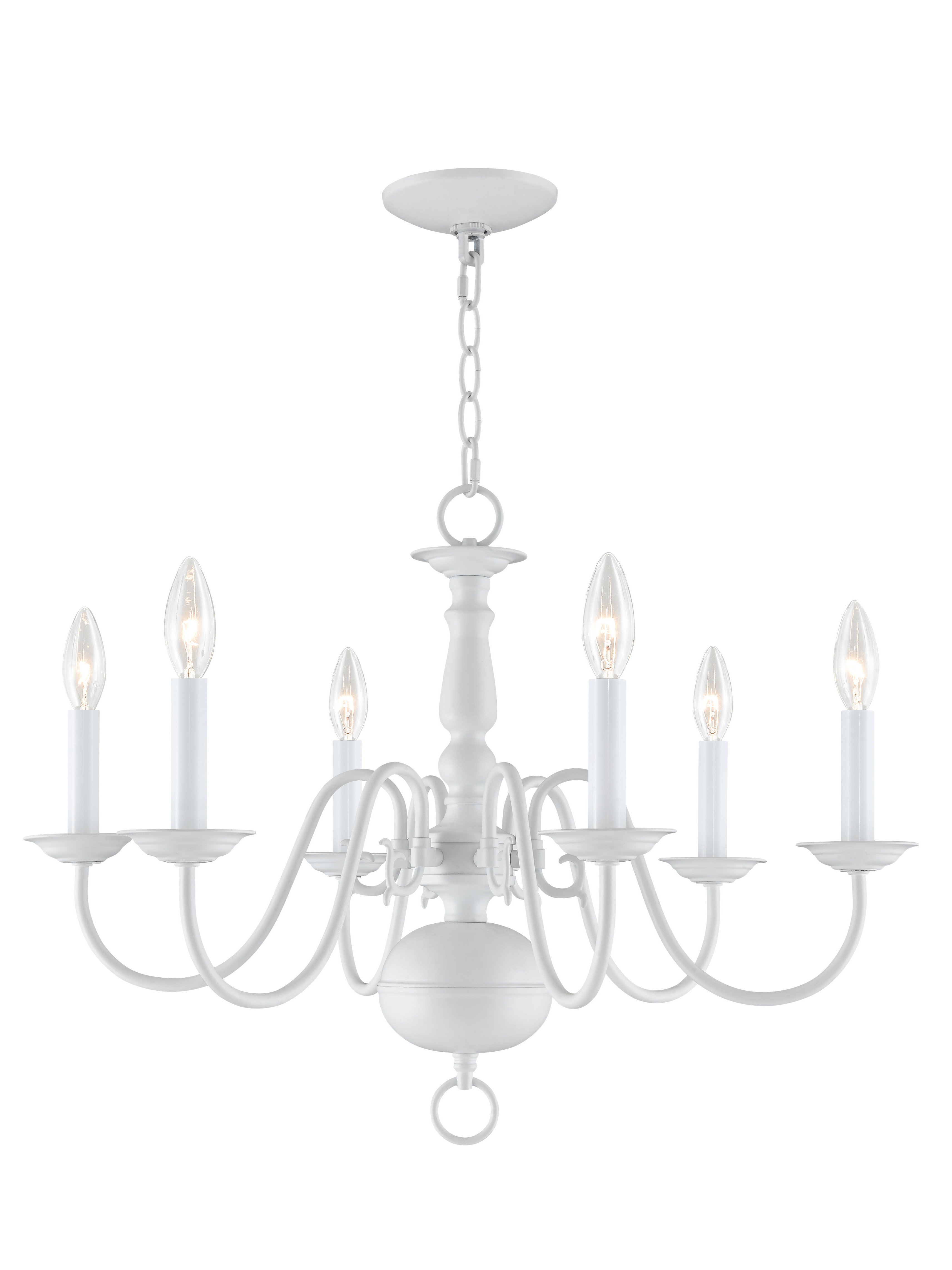 Berger 5 Light Candle Style Chandeliers For Widely Used Three Posts Allensby 6 Light Candle Style Chandelier (View 4 of 20)