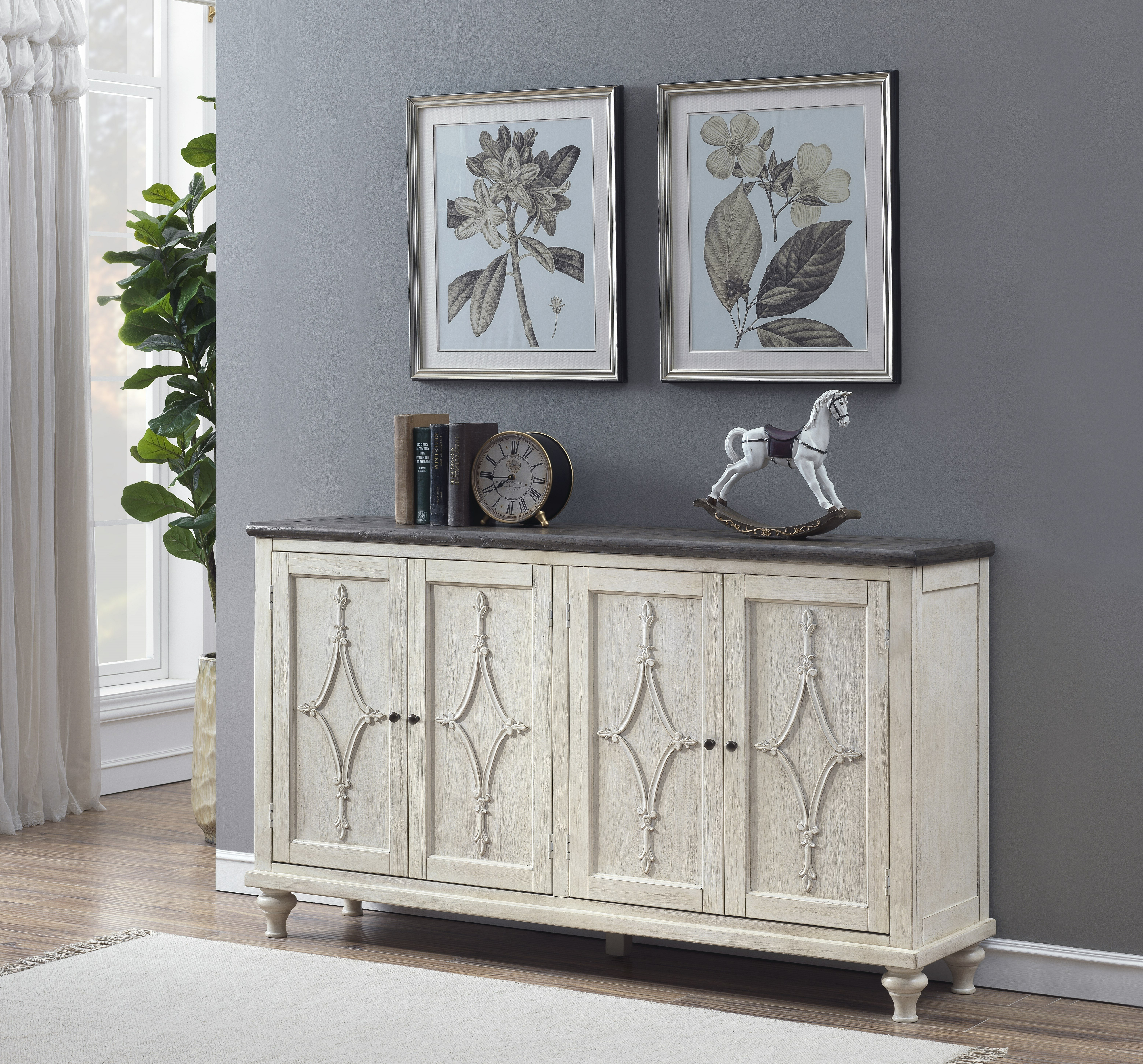 Bernard 4 Door Media Credenza For Most Popular Serafino Media Credenzas (View 3 of 20)