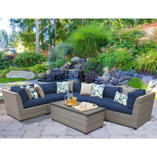 Best 12 The Connexion Resin Wicker Patio Sectional Set Is For Widely Used Lorentzen Patio Sectionals With Cushions (Gallery 19 of 20)