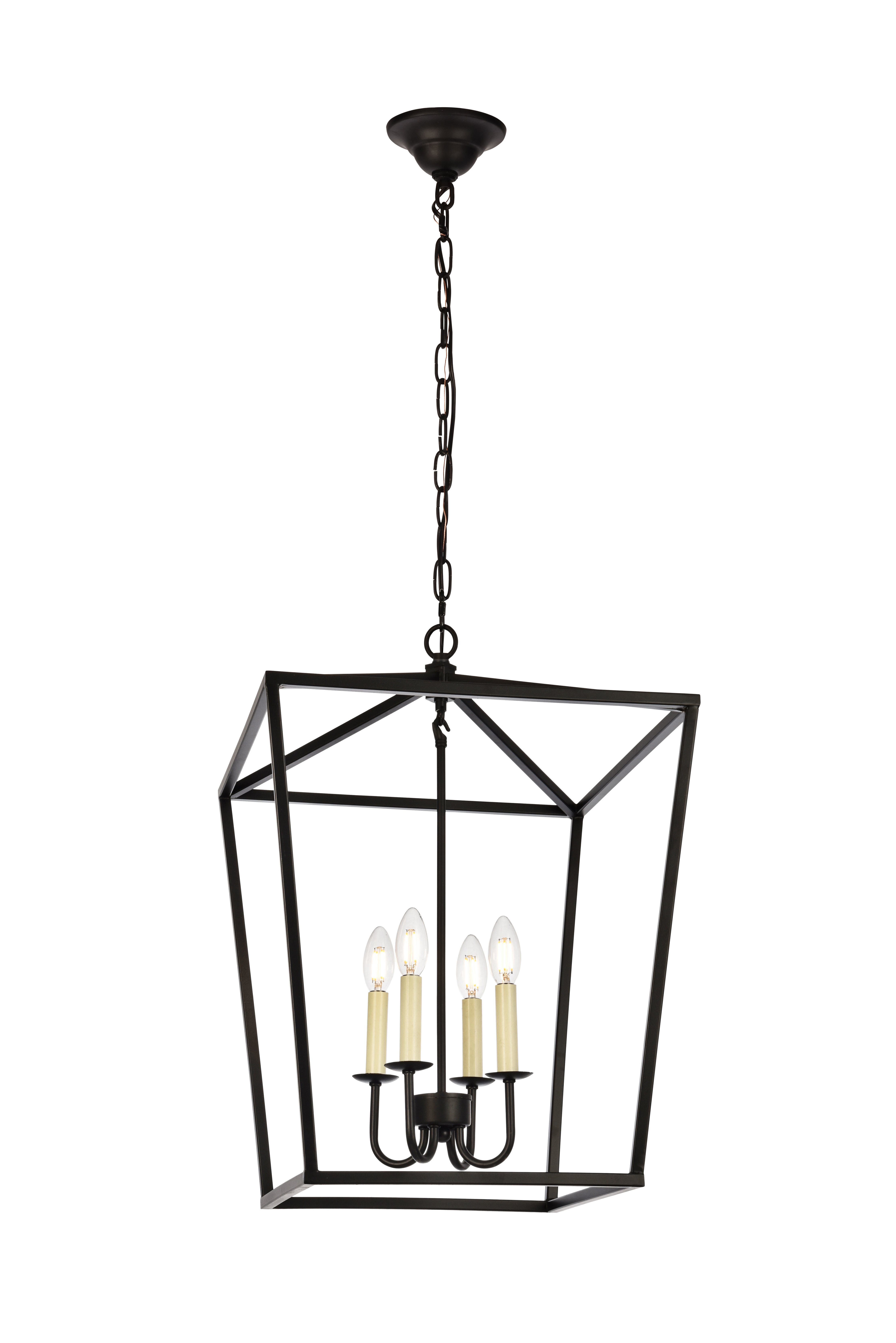 Best And Newest Andover Mills Finnick 4 Light Foyer Pendant Inside Vincent 5 Light Drum Chandeliers (View 3 of 20)