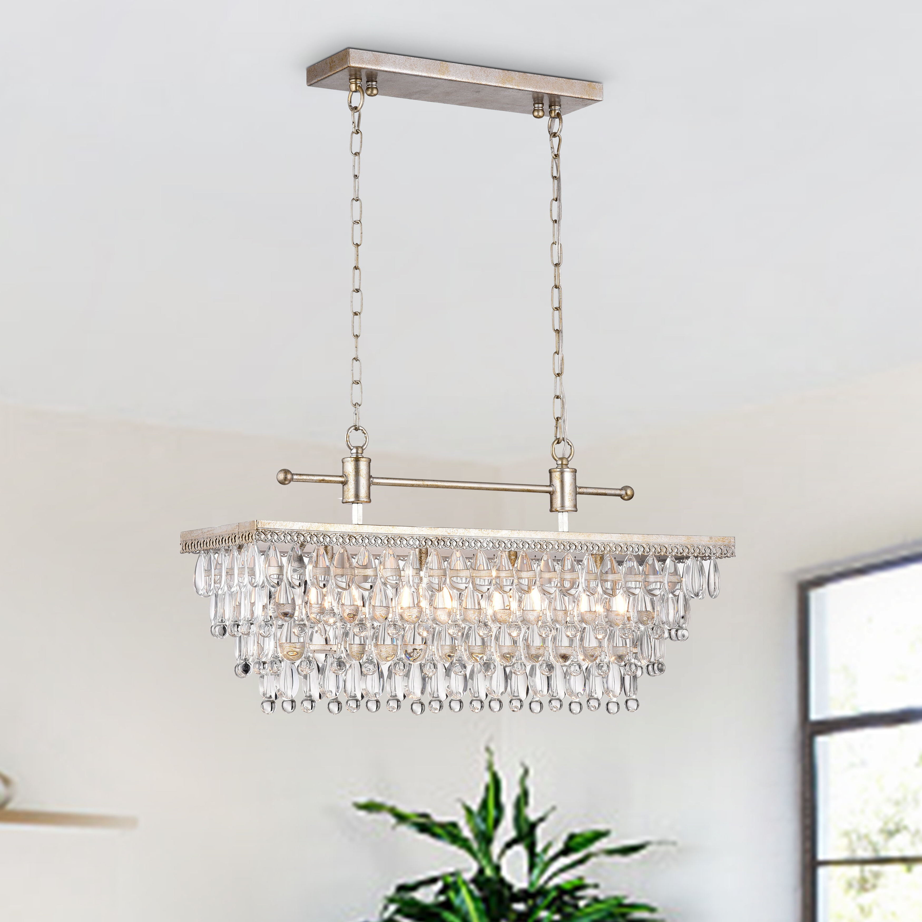 Best And Newest Annuziata 3 Light Unique/statement Chandeliers Throughout Barta 4 Light Kitchen Island Chandelier (Gallery 9 of 20)