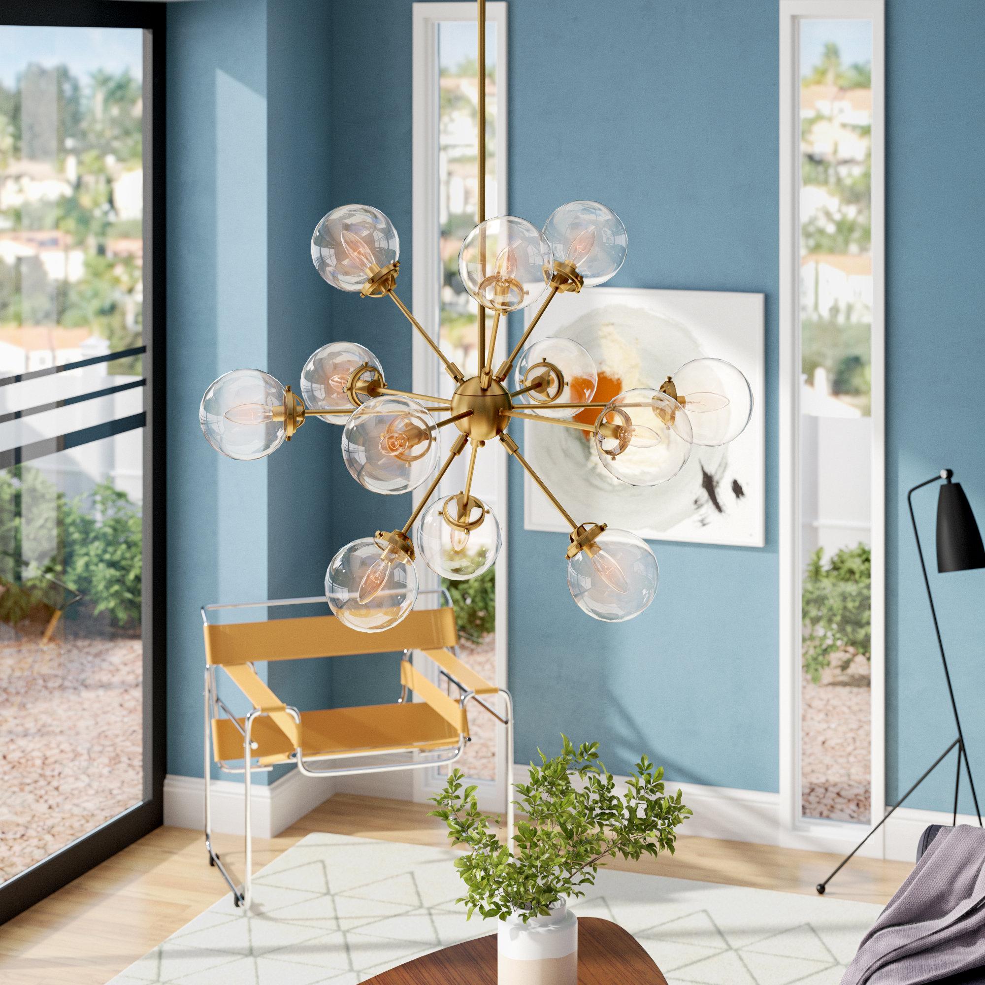 Best And Newest Asher 12 Light Sputnik Chandelier In Asher 12 Light Sputnik Chandeliers (Gallery 3 of 20)