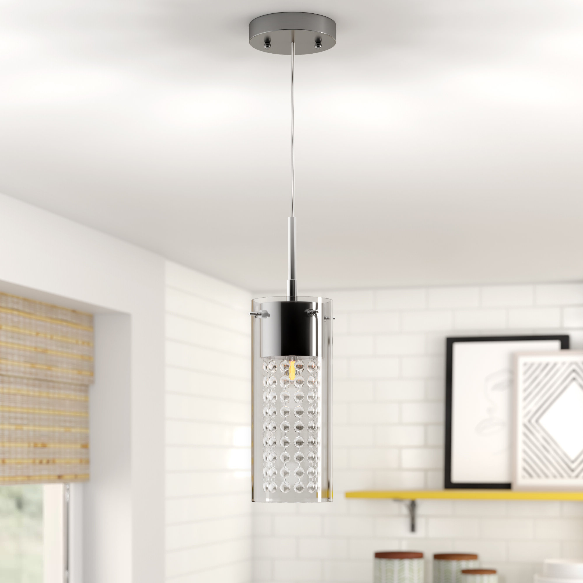 Featured Photo of Bainbridge 1 Light Single Cylinder Pendants